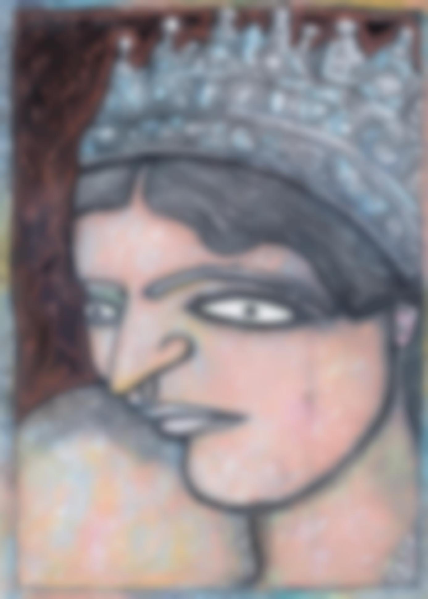 Jogen Chowdhury-Untitled (Queen)-1999