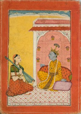 Indian Miniature Painting - A Prince Entertained By Music-1760