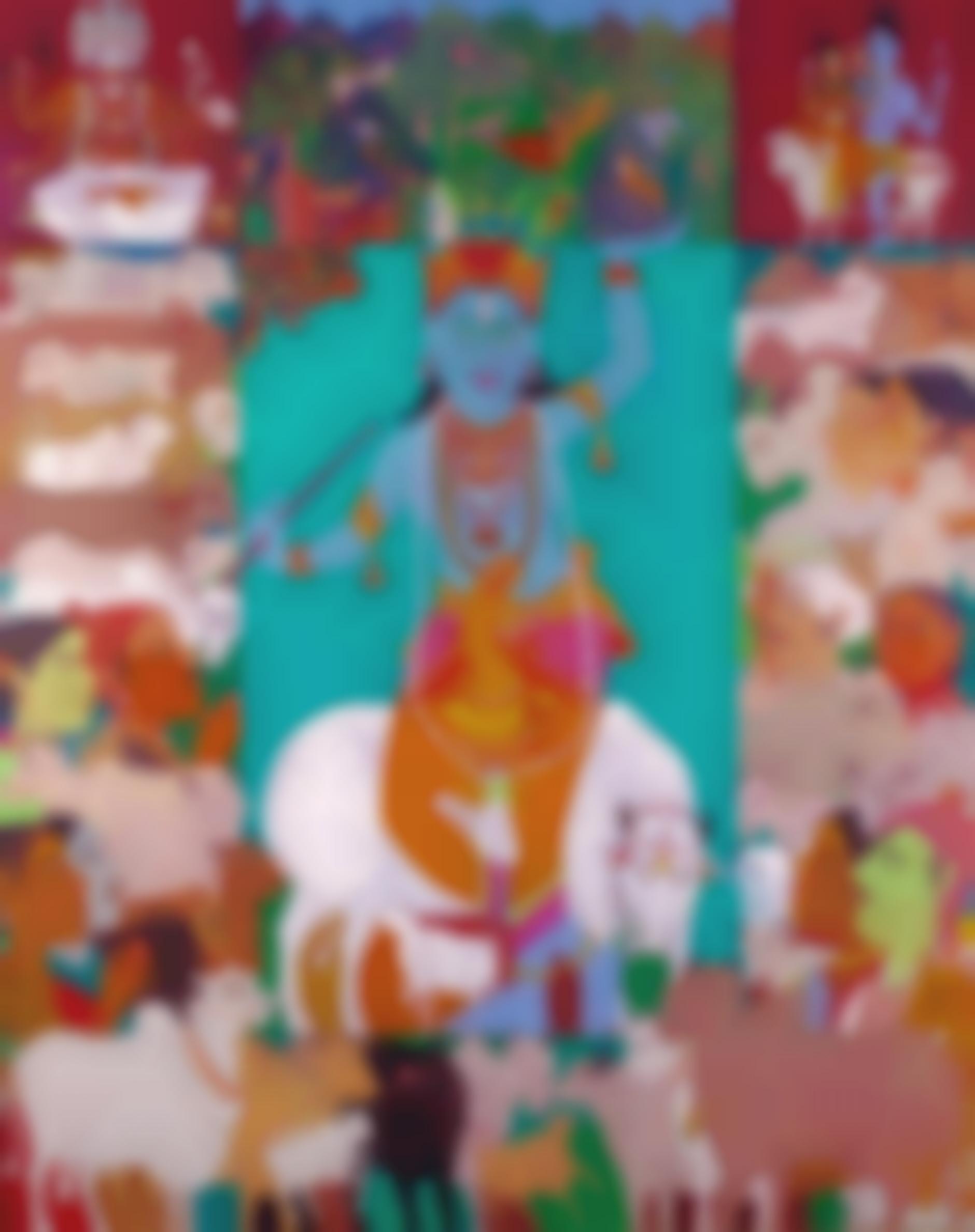 K. Laxma Goud-Untitled (Krishna)-2017