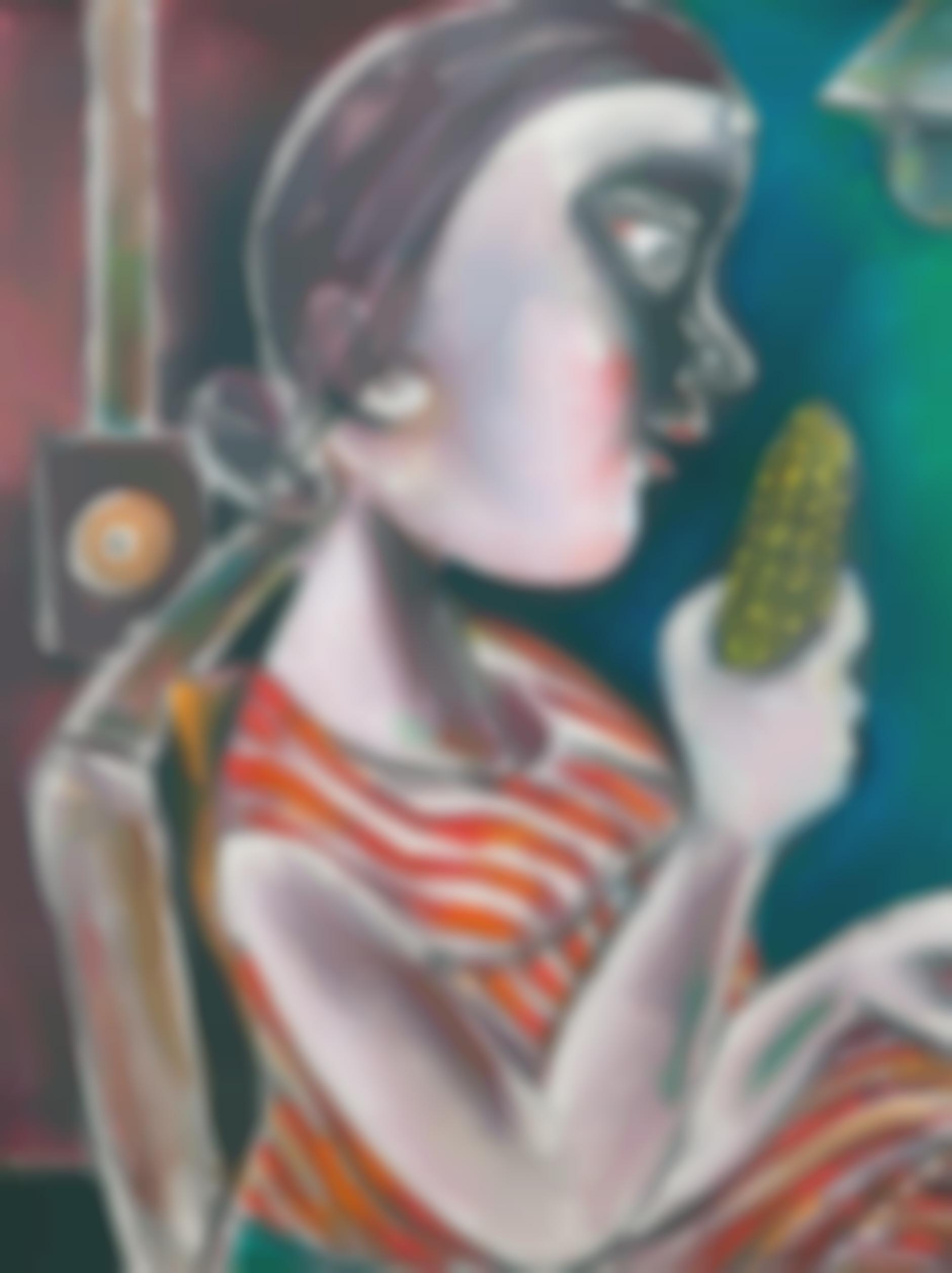 Paritosh Sen-Girl Eating A Maize-1996