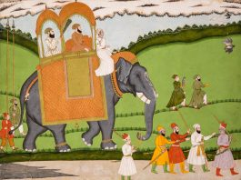 Indian Miniature Painting - A Nobleman At A Hunt