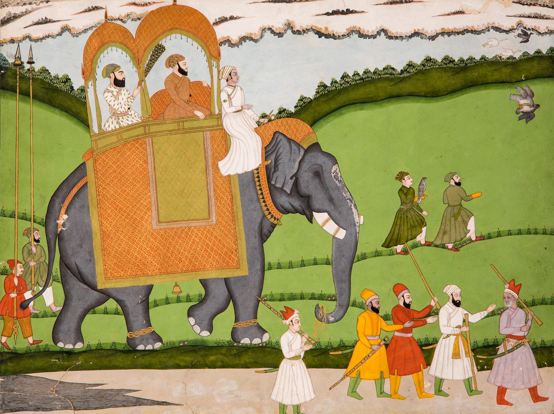 Indian Miniature Painting - A Nobleman At A Hunt-