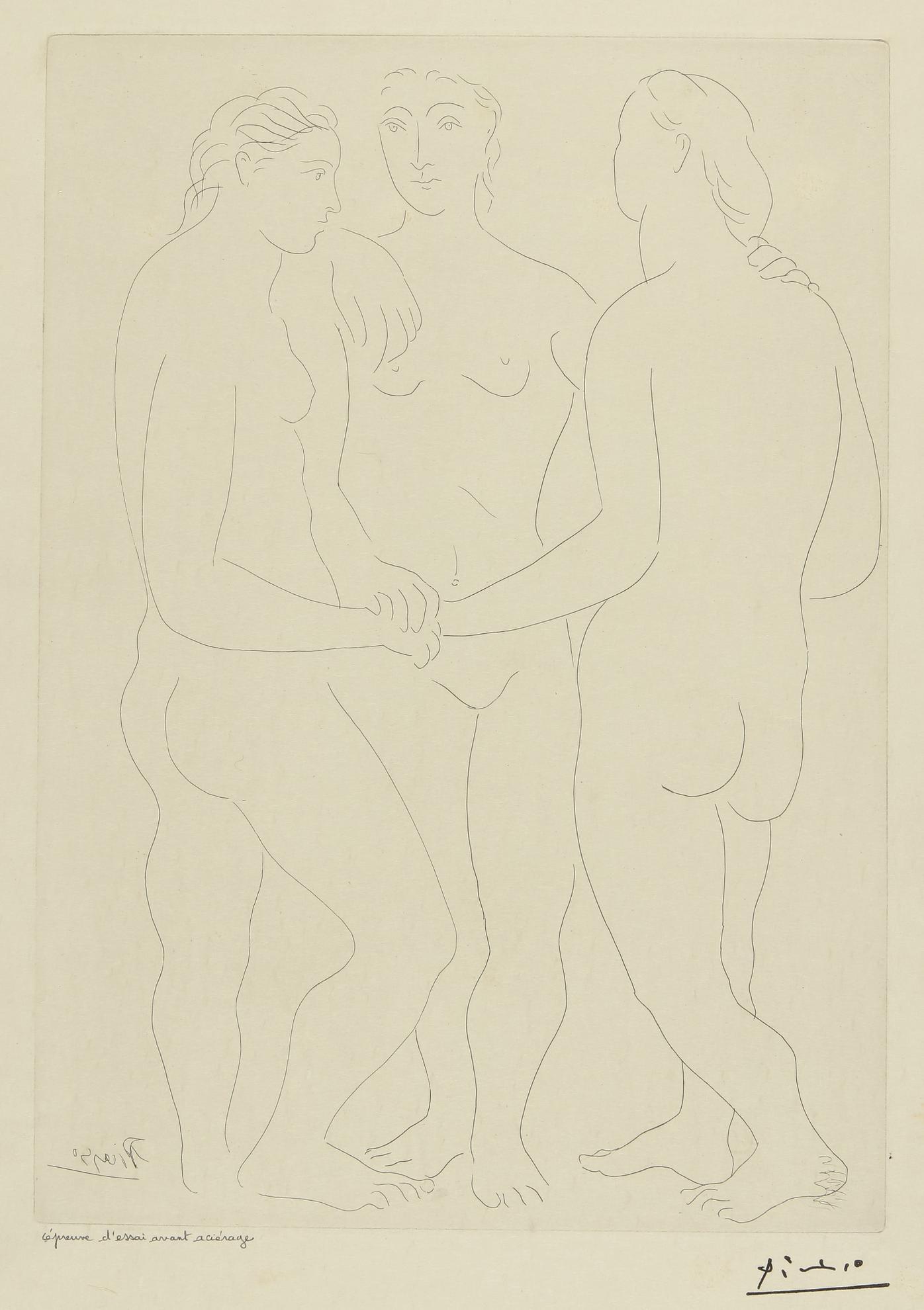 Pablo Picasso-Les Trois Amies (Bloch 76; Baer 117)-1923