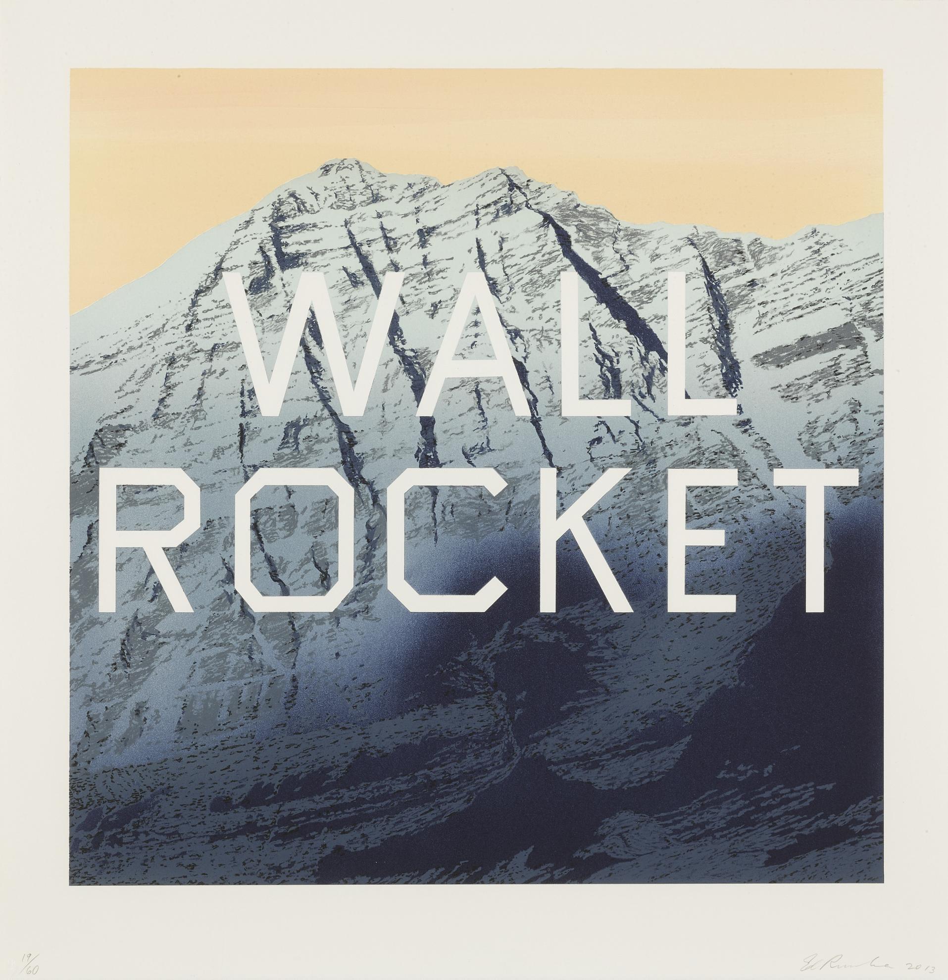Ed Ruscha-Wall Rocket-2013