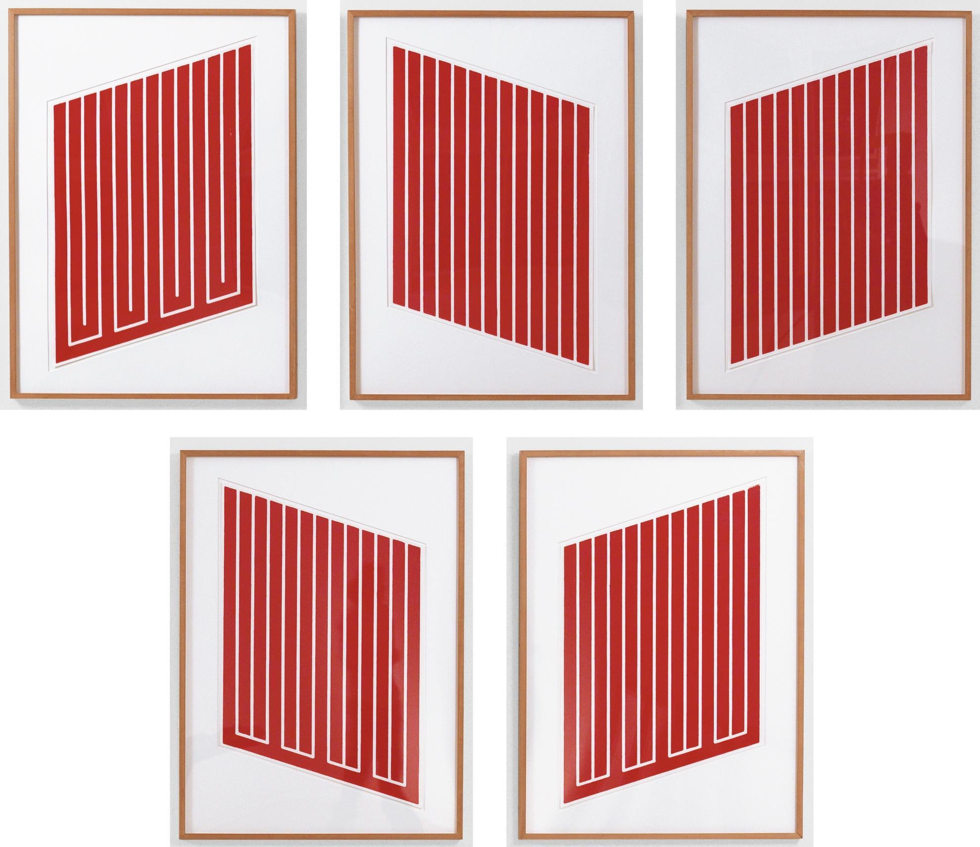 Donald Judd-Untitled: Five Prints (Schellmann 38, 41, 42, 61 & 62)-1969