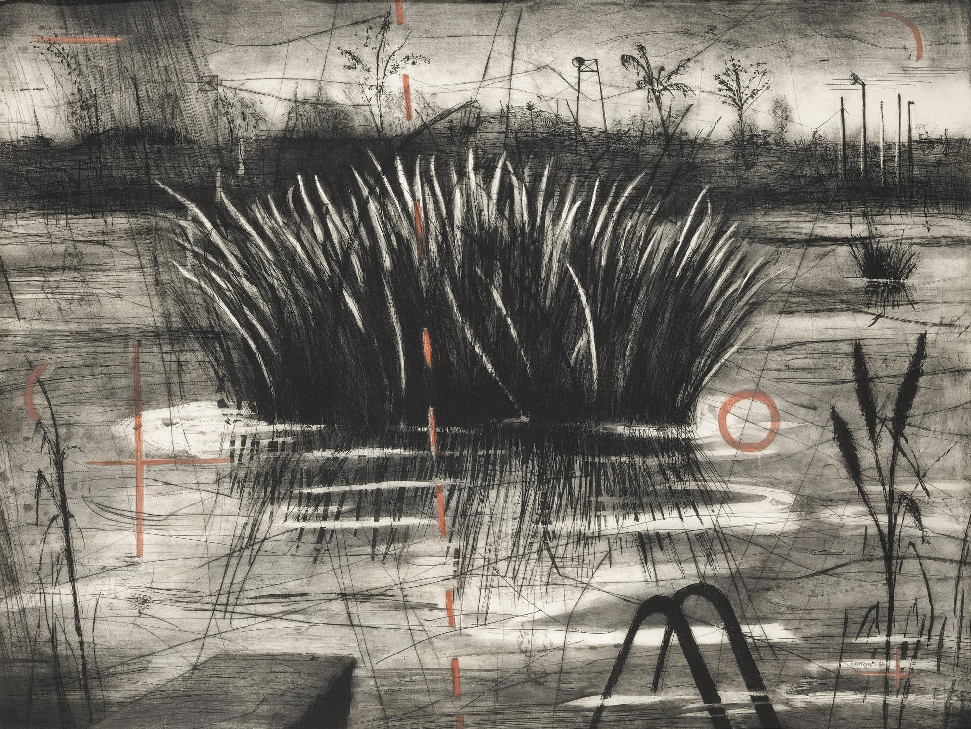 William Kentridge-Reeds (Krut Pp. 54-55)-1996