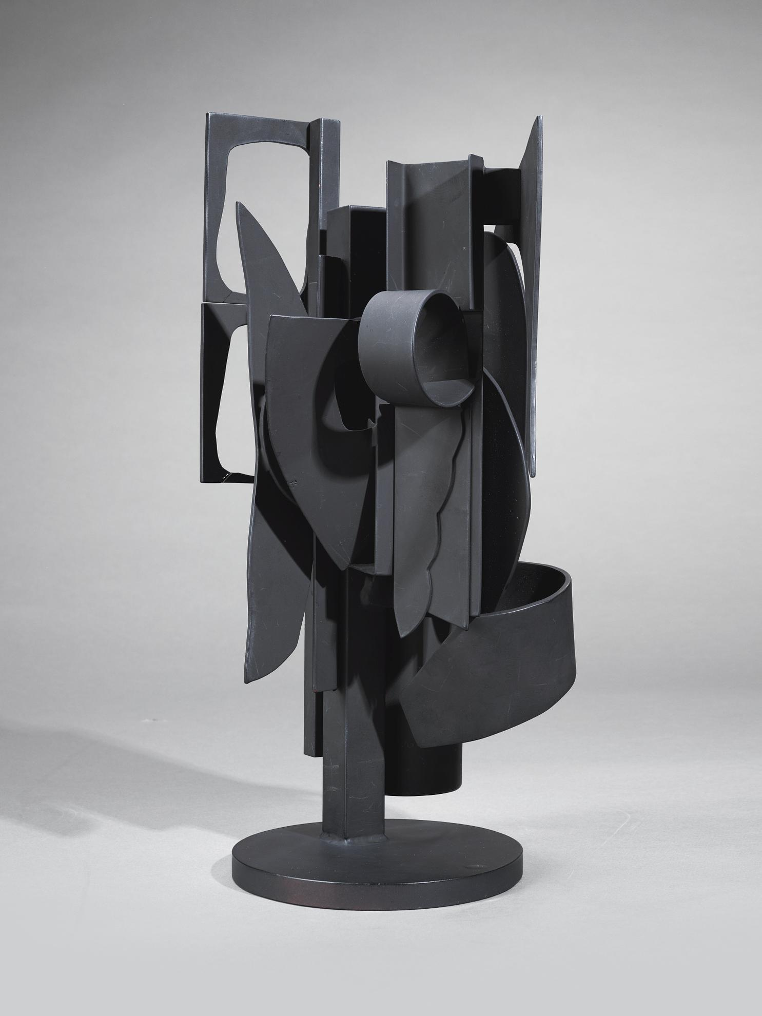 Louise Nevelson-Maquette For Sun Disc And Moon Shadow Column-1979