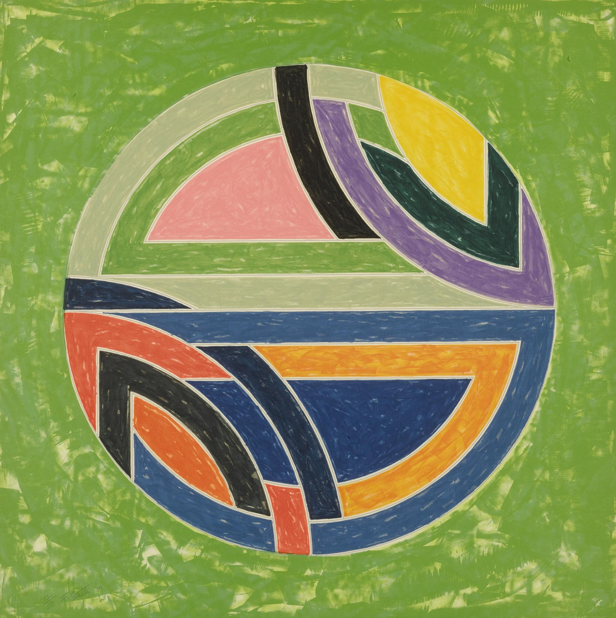 Frank Stella-Sinjerli Variations Squared With Colored Grounds I-Iv (Axsom 129-134)-1981