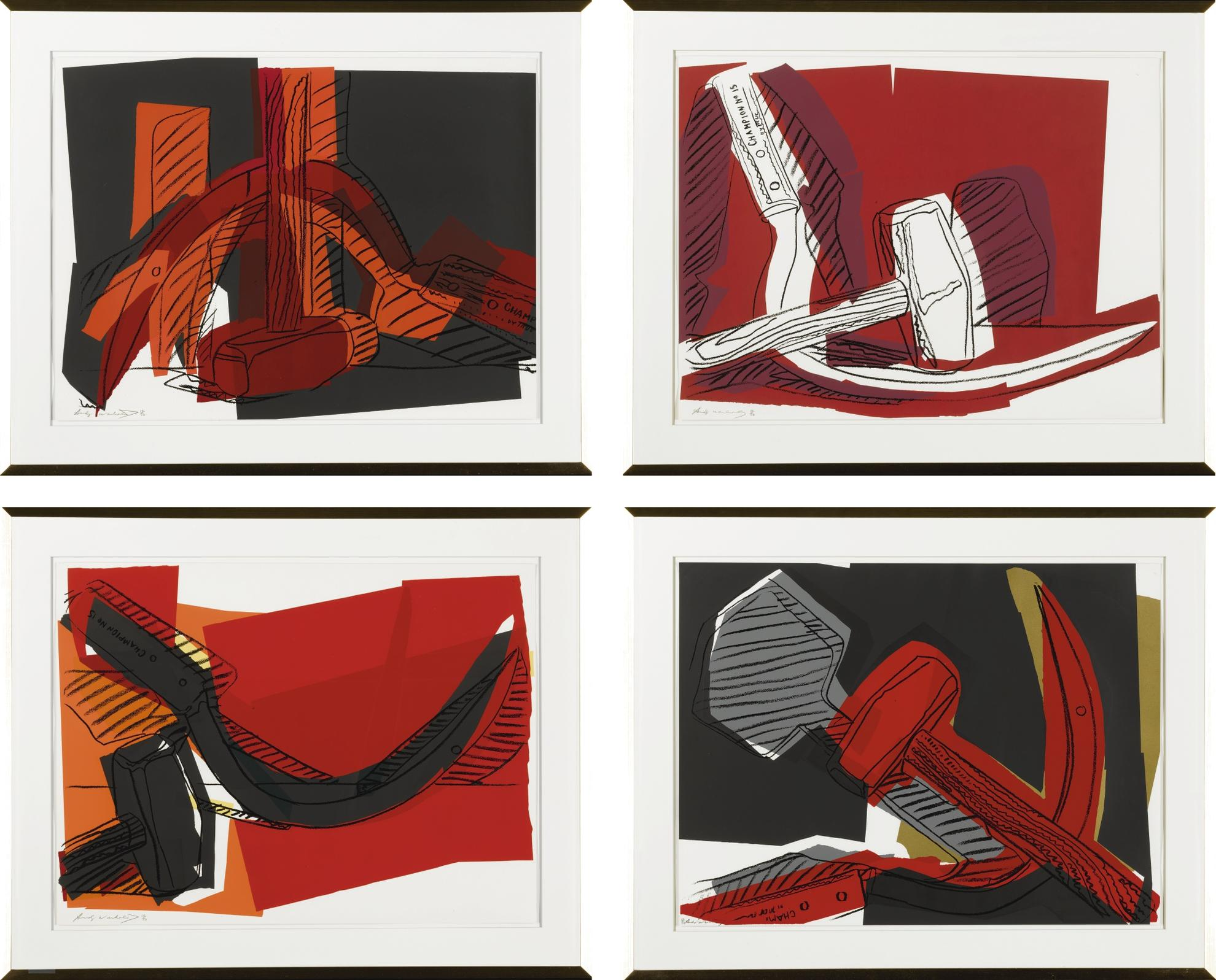 Andy Warhol-Hammer And Sickle (Feldman & Schellmann II.161-164)-1977