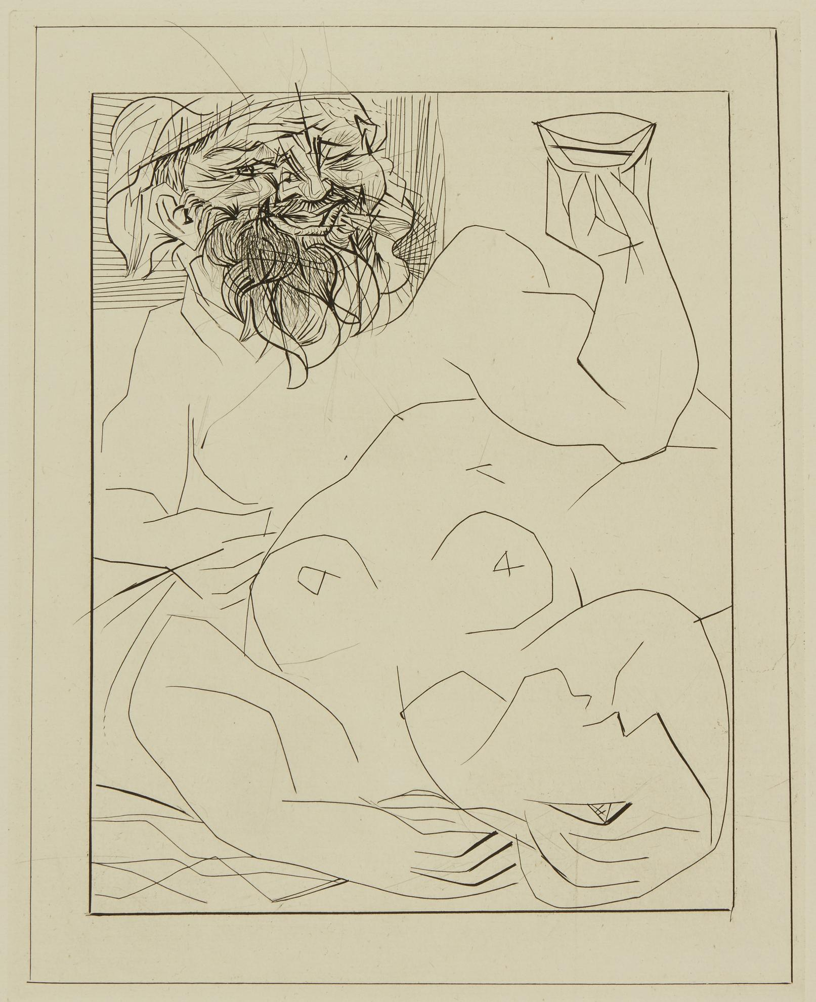 Pablo Picasso-Bacchus Et Marie-Therese (En Ariane?) (B. 284; Ba. 432)-1934