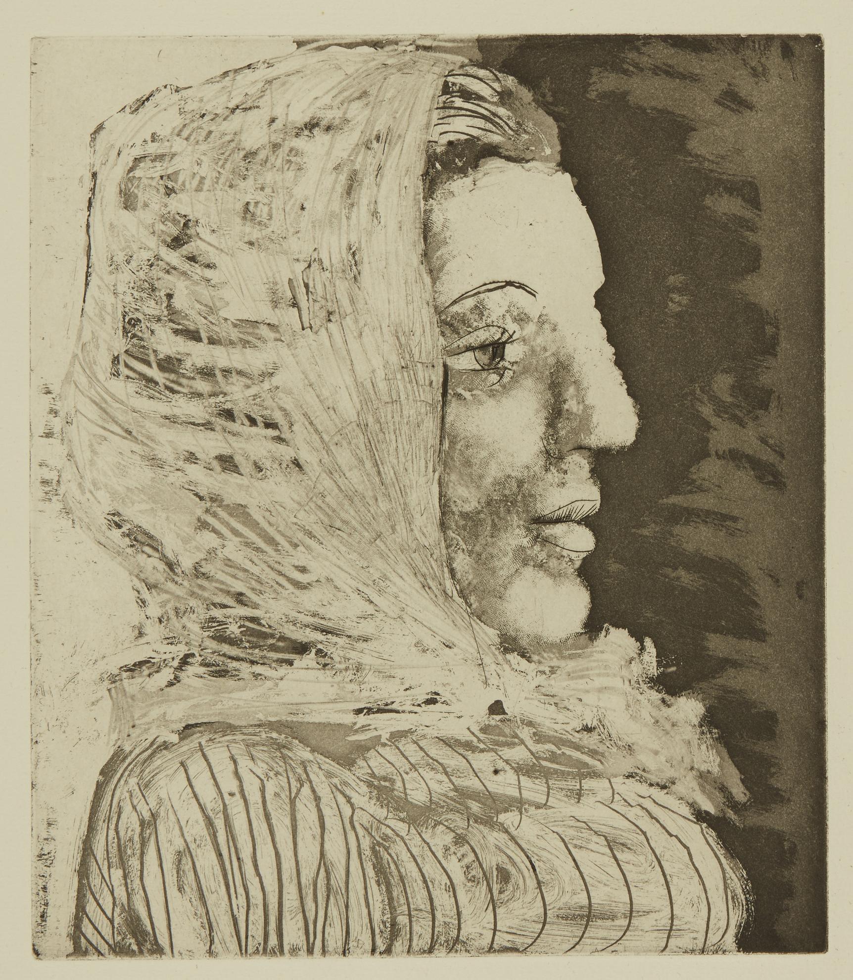 Pablo Picasso-Buste De Femme Au Fichu (B. 324; Ba. 672)-1939