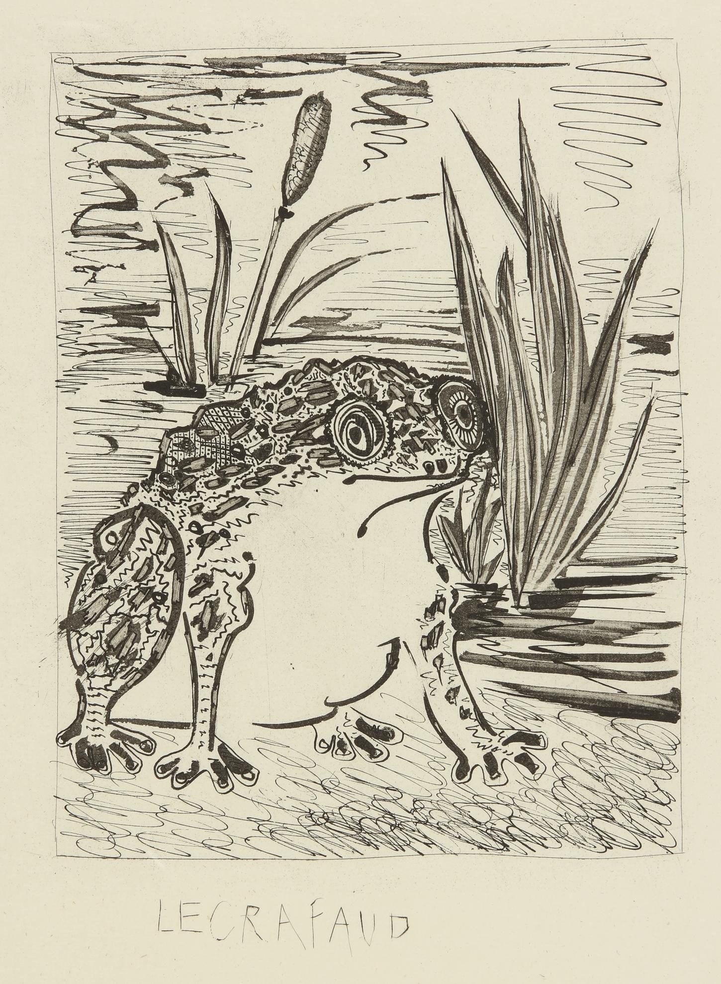 Pablo Picasso-La Crapaud (B. 356; Ba. 603)-1936