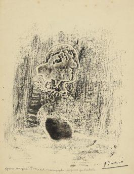 Pablo Picasso-Tete Avec Plume Et Tarlatane (Ba. 572Bis)-1932
