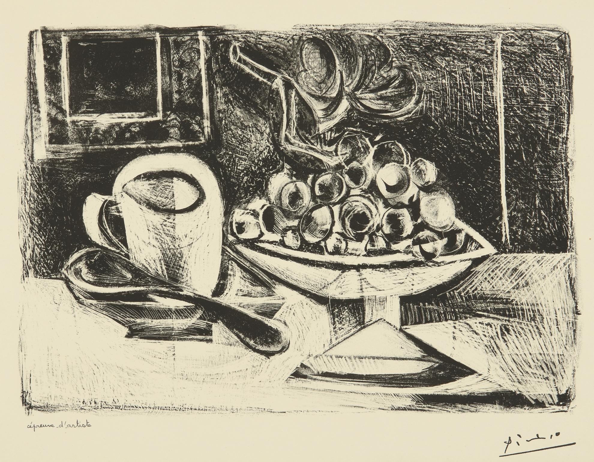 Pablo Picasso-Nature Morte Au Compotier (B. 379; M. 6)-1945