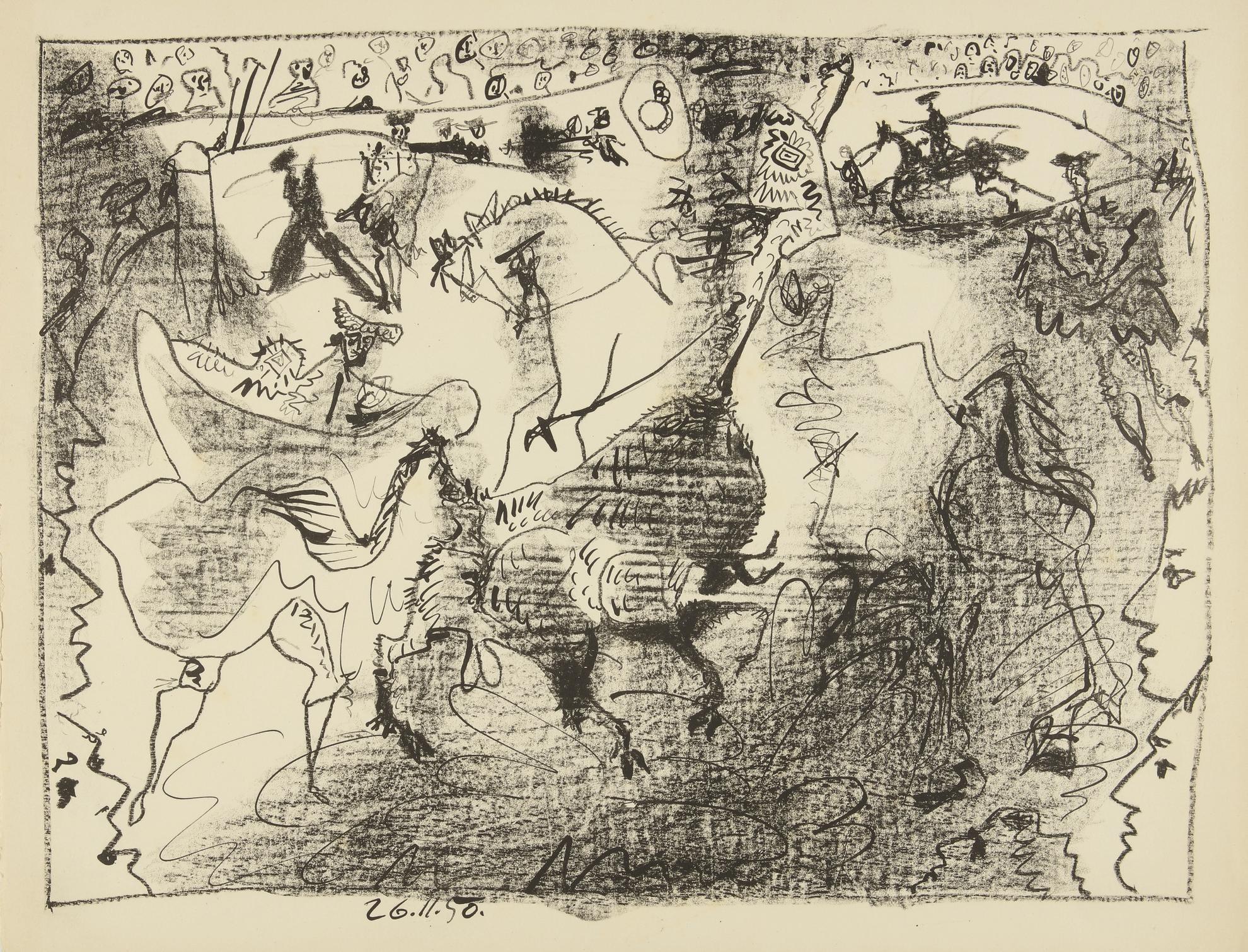Pablo Picasso-La Pique (B. 683; M. 196)-1950