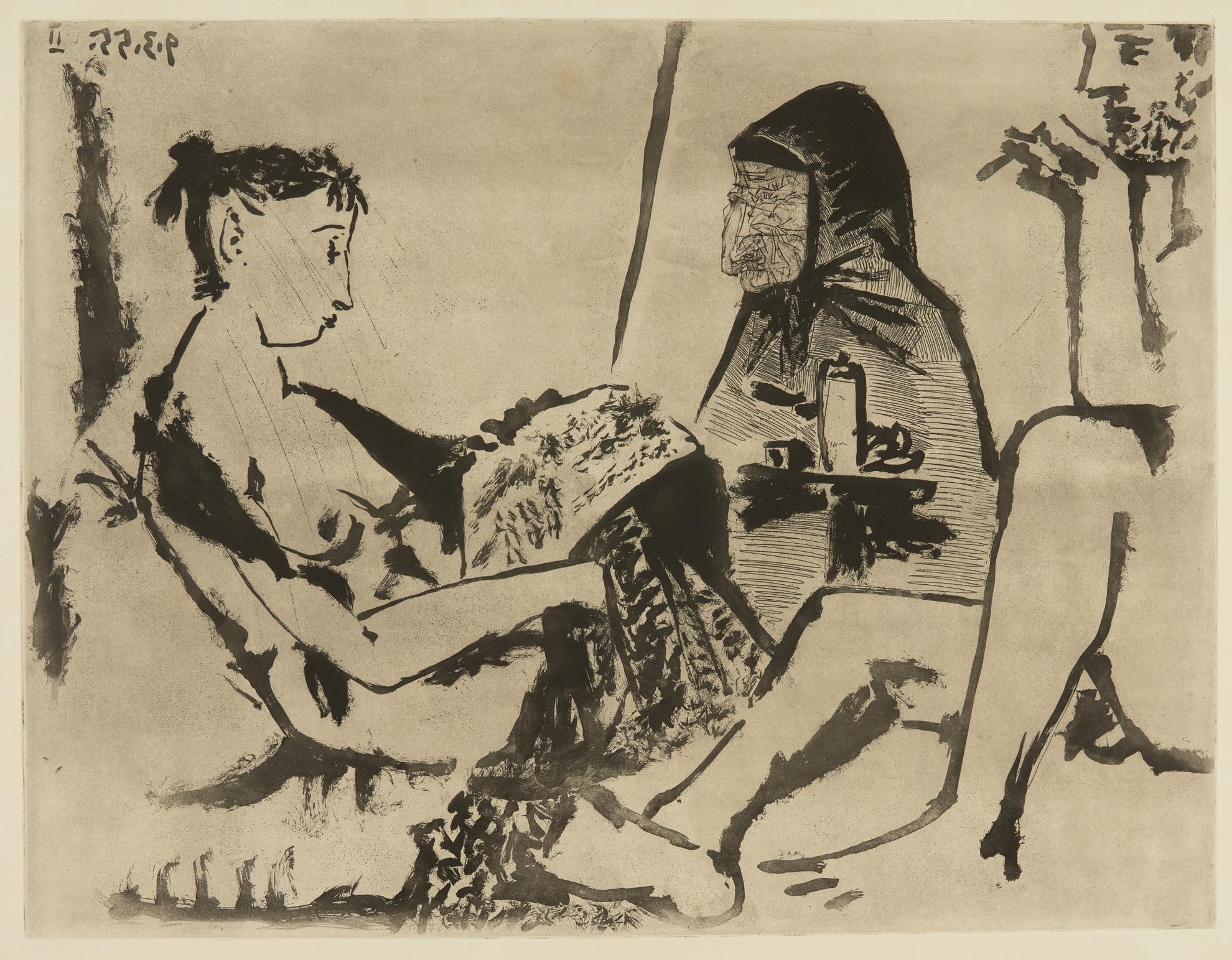 Pablo Picasso-Maison Close: Le Chocolat I (Ba. 921)-1955
