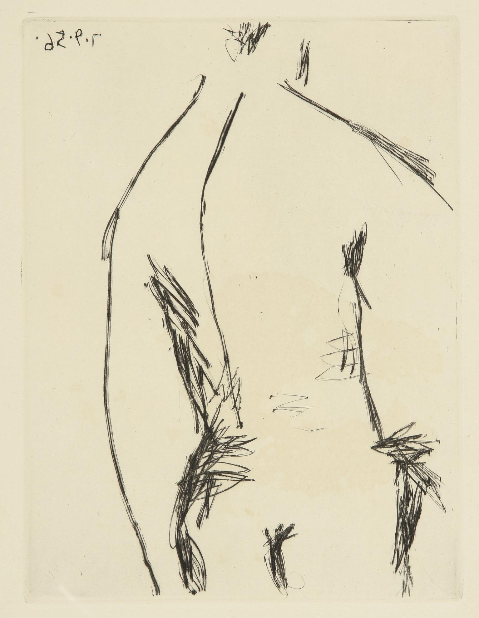 Pablo Picasso-Dos D'homme (B. 803; Ba. 959)-1956
