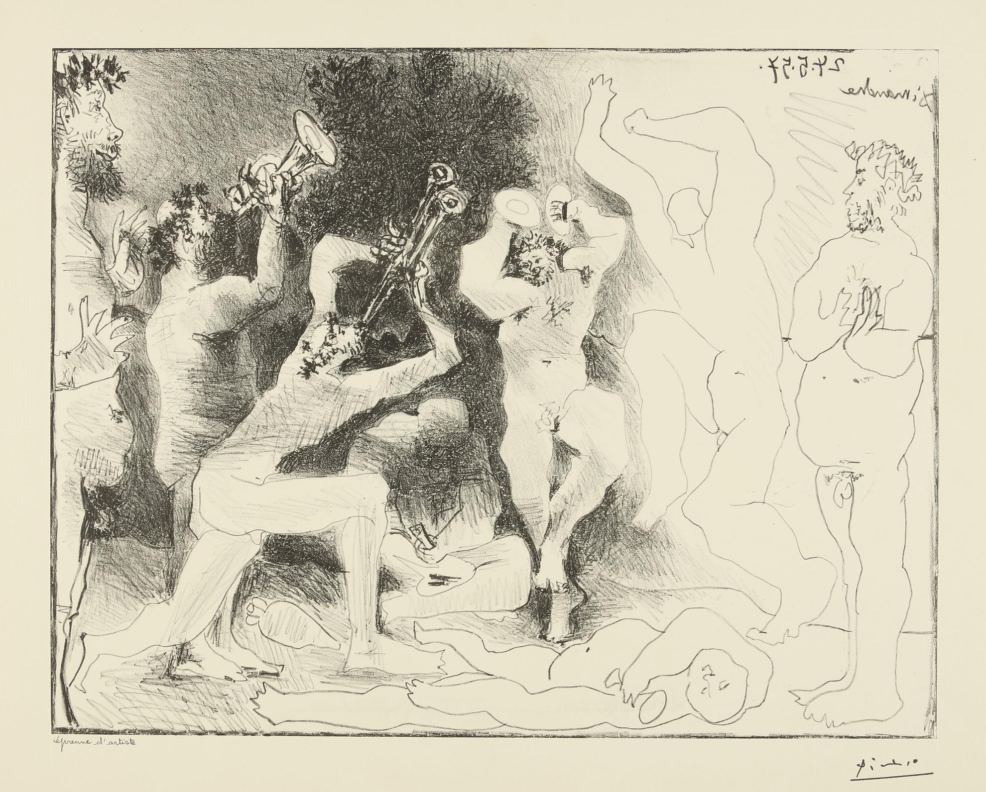 Pablo Picasso-La Danse Des Faunes (B. 830; M. 291)-1957