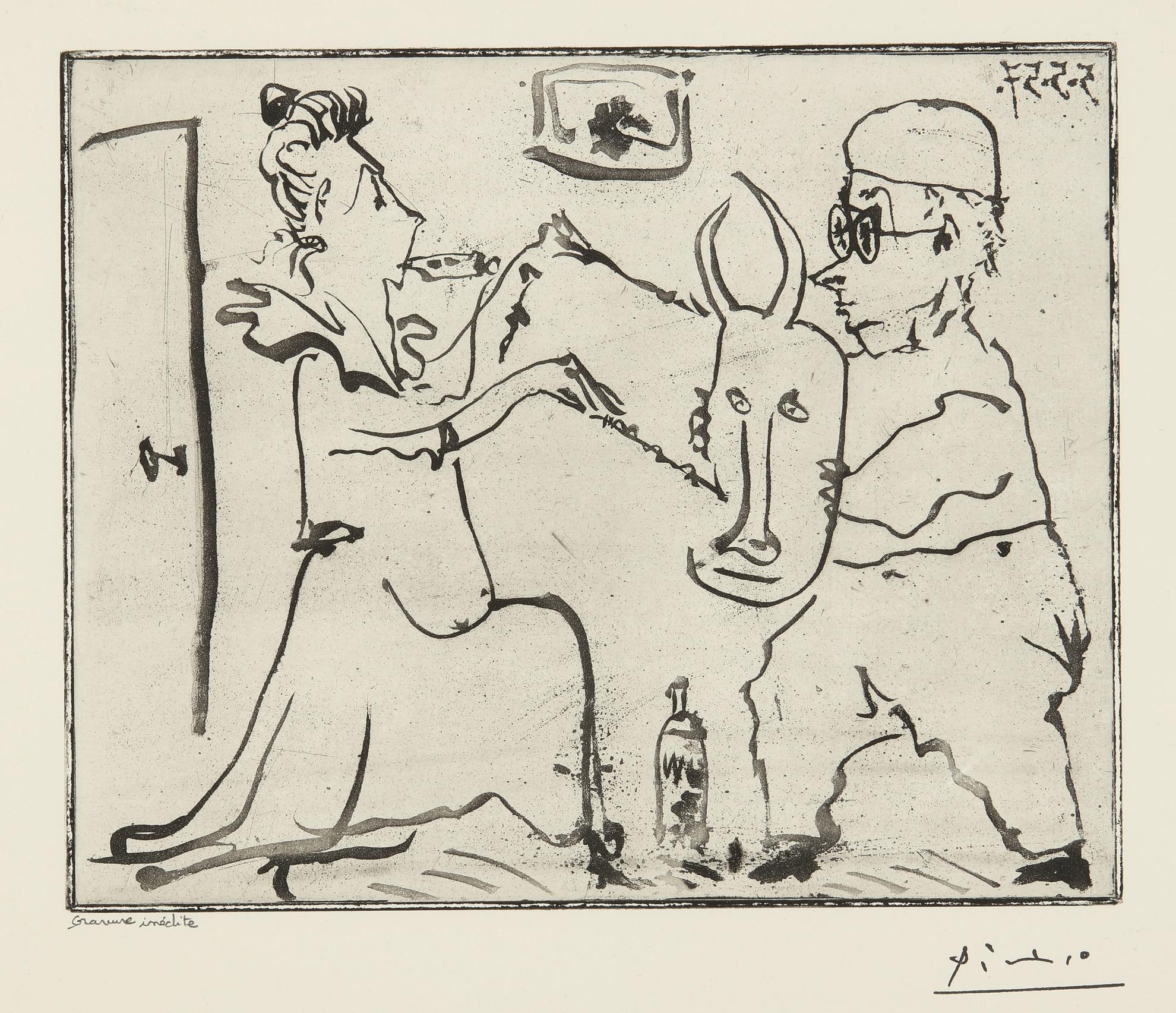 Pablo Picasso-Histoire De Sabartes Et De Sa Voisine: Les Banderilles (Ba. 968)-1957