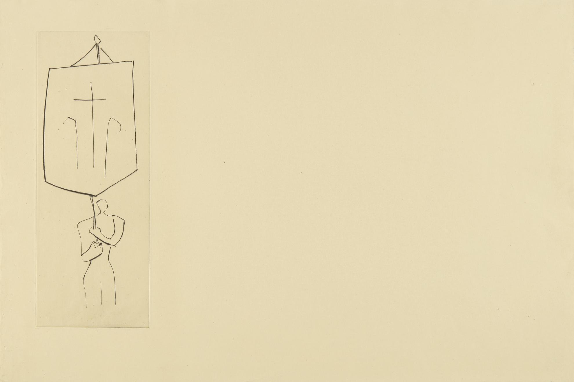 Pablo Picasso-Le Frere Mendiant: Pretre Jean. Une Croix (B. 897; Ba. 1018)-1958