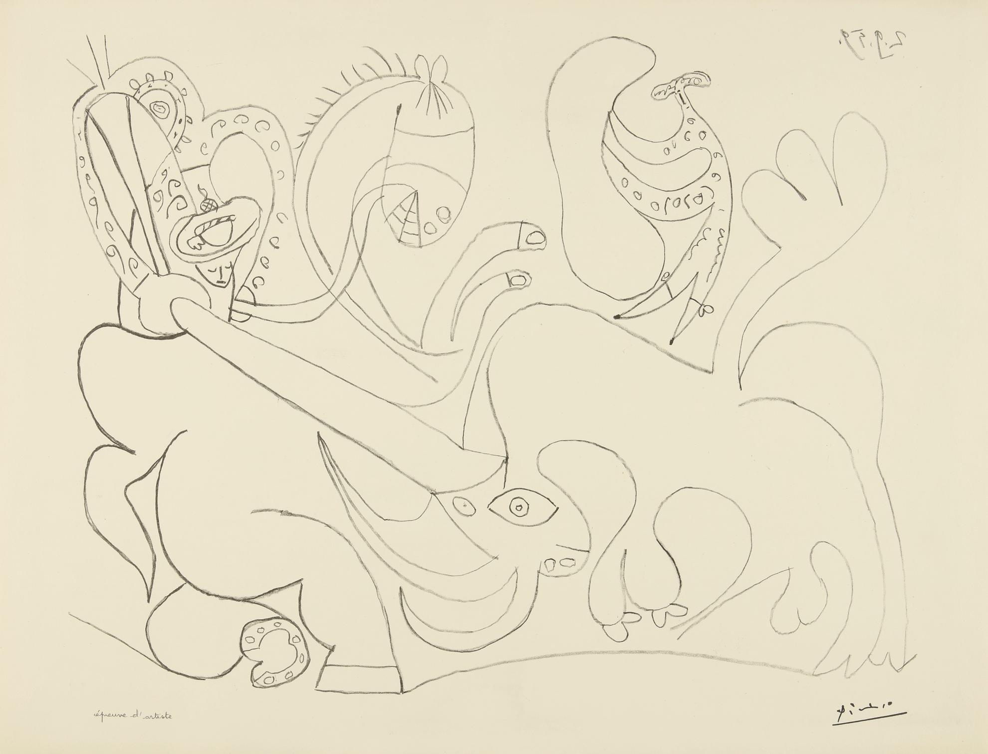 Pablo Picasso-La Pique. I (B. 898; M. 324)-1959