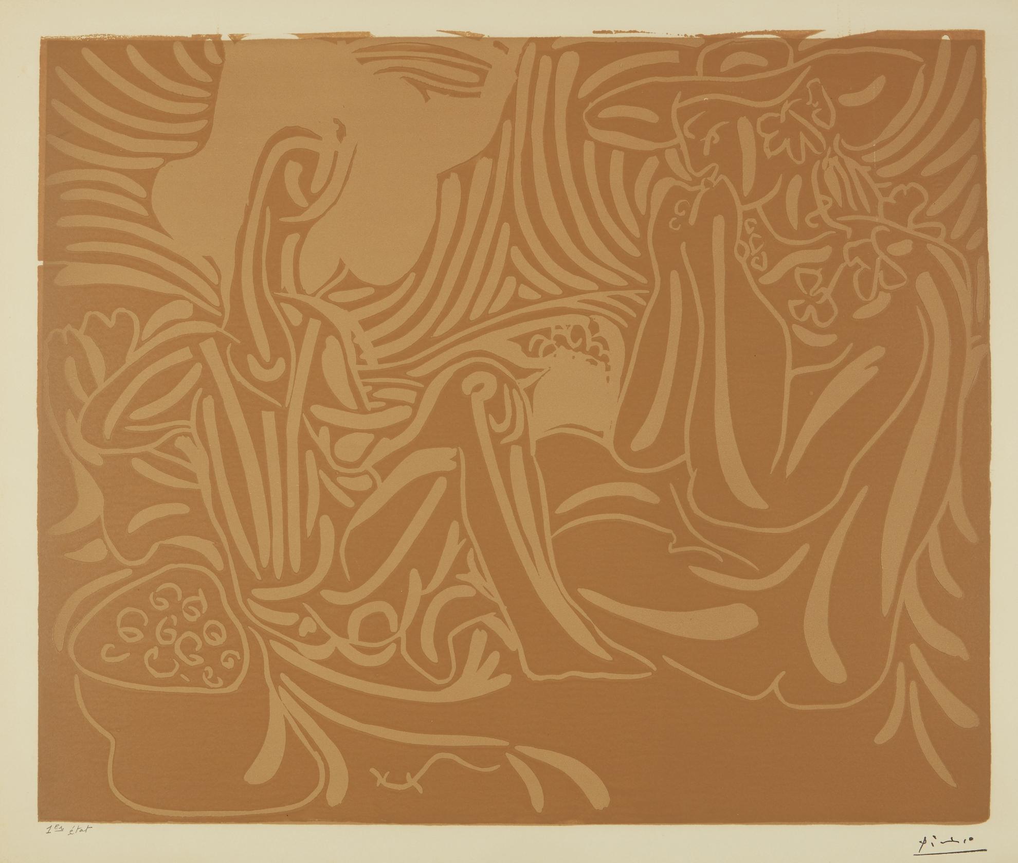 Pablo Picasso-Les Vendangeurs (B. 937; Ba. 1241)-1959