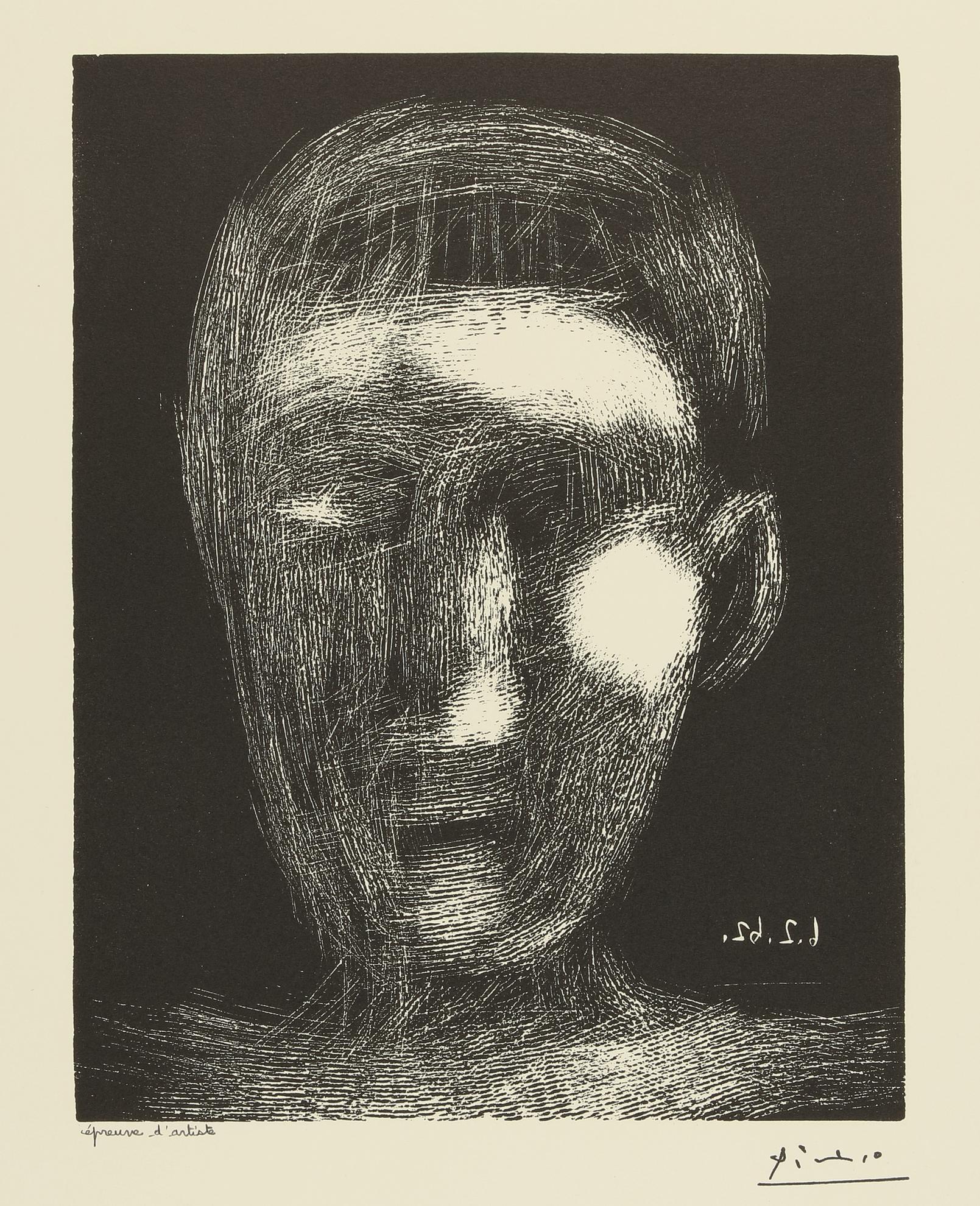 Pablo Picasso-Tete De Garcon. Ii (B. 1025; Ba. 1289)-1962
