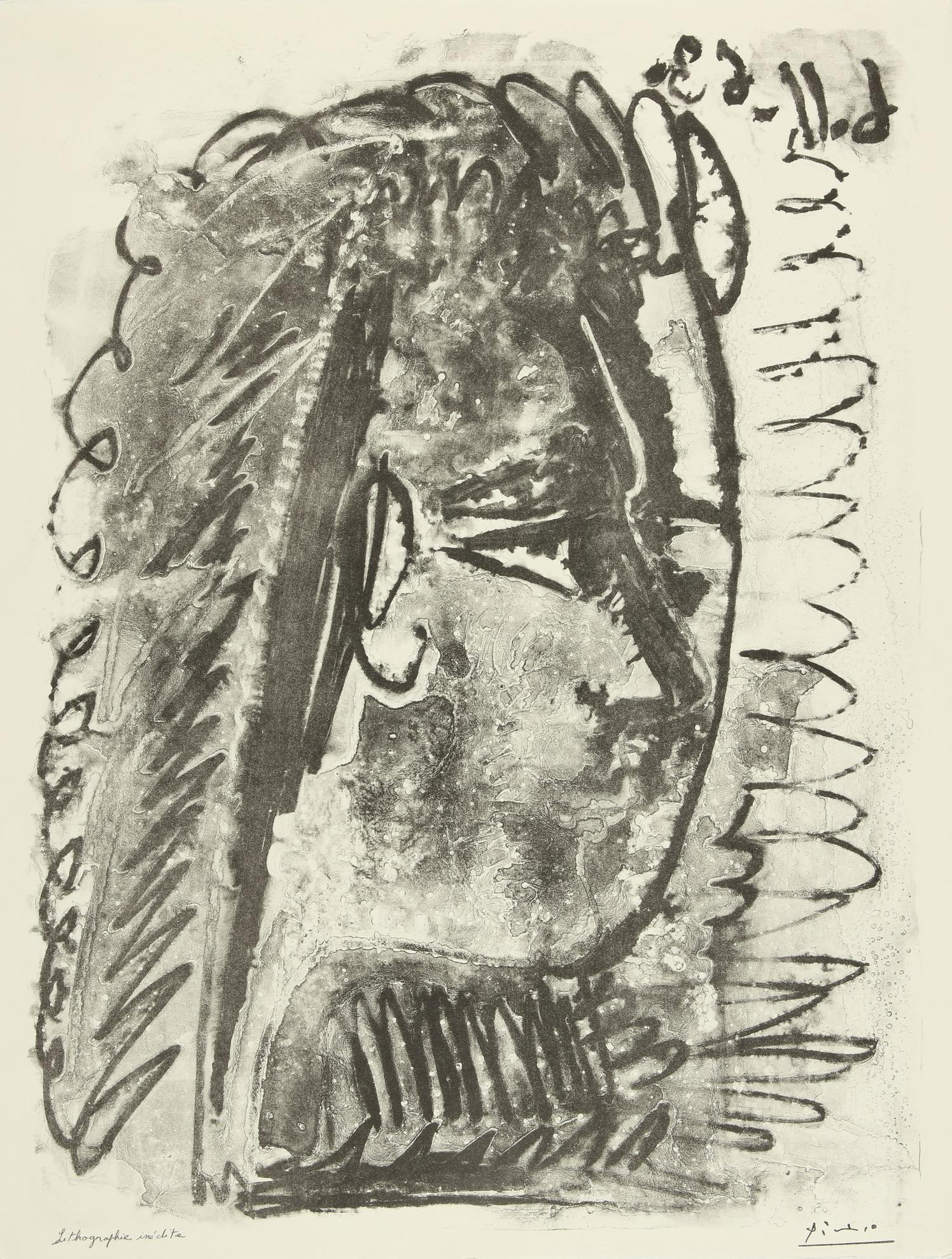 Pablo Picasso-Profil De Femme Regardant A Droite (M. 391)-1963