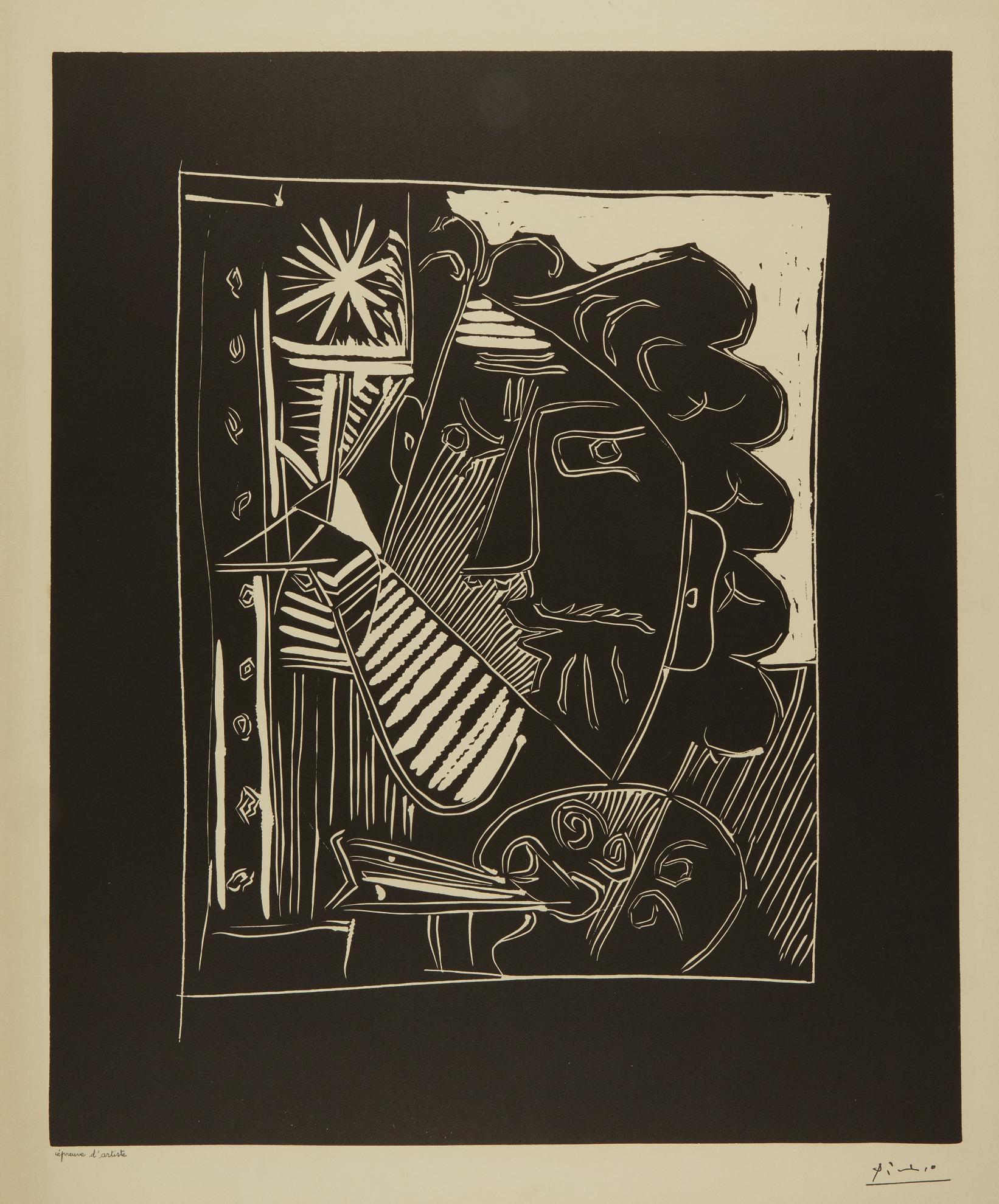 Pablo Picasso-Peintre Et Sa Toile (Le Peintre A La Palette) (B. 1153; Ba. 1342)-1963