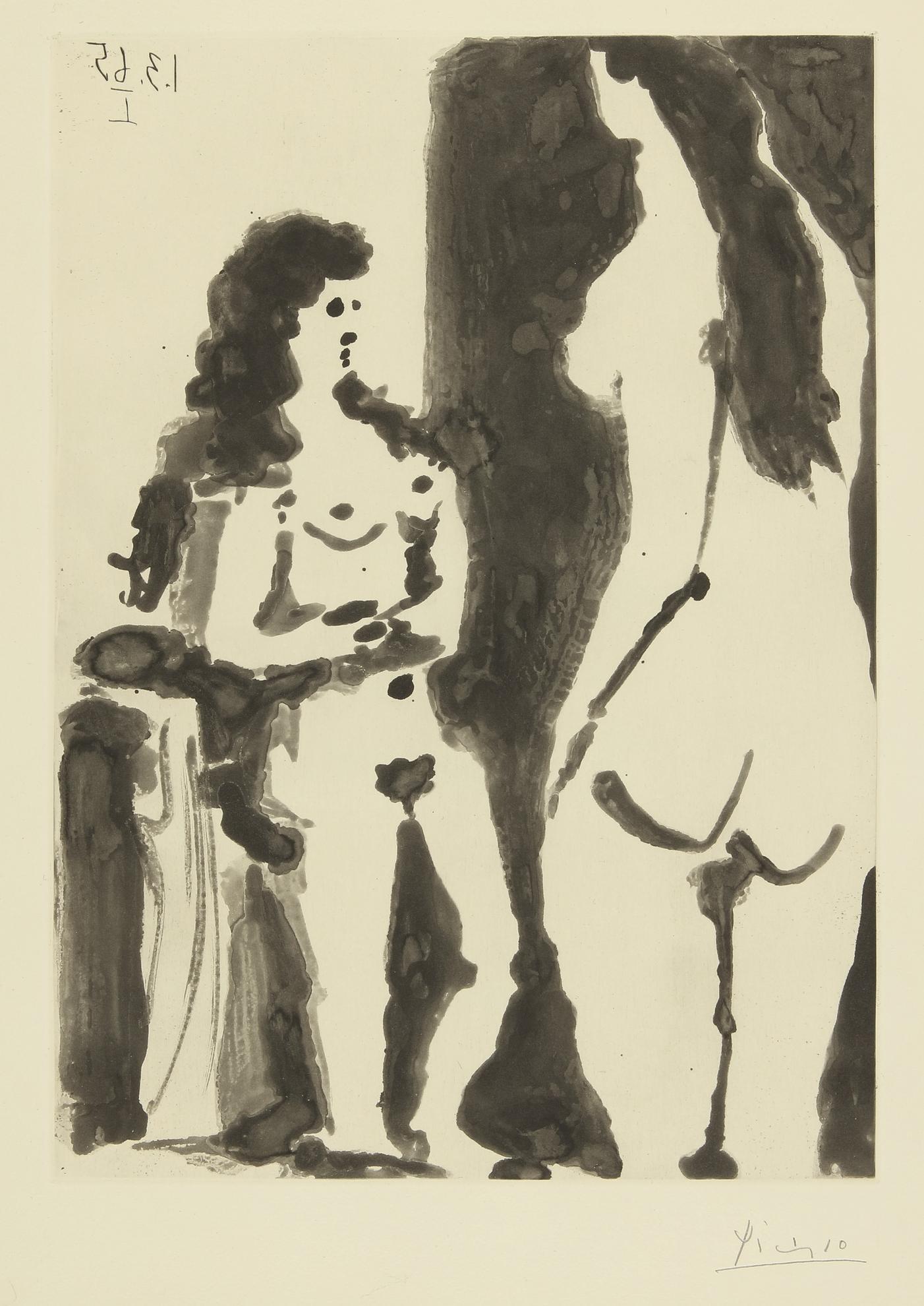 Pablo Picasso-Deux Femmes. II (B. 1198; Ba. 1180)-1965