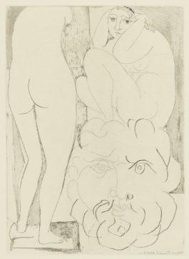 Pablo Picasso-Femme Songeuse Et Inquiete Dans Latelier De Sculpture (B. 188; Ba. 347)-1933