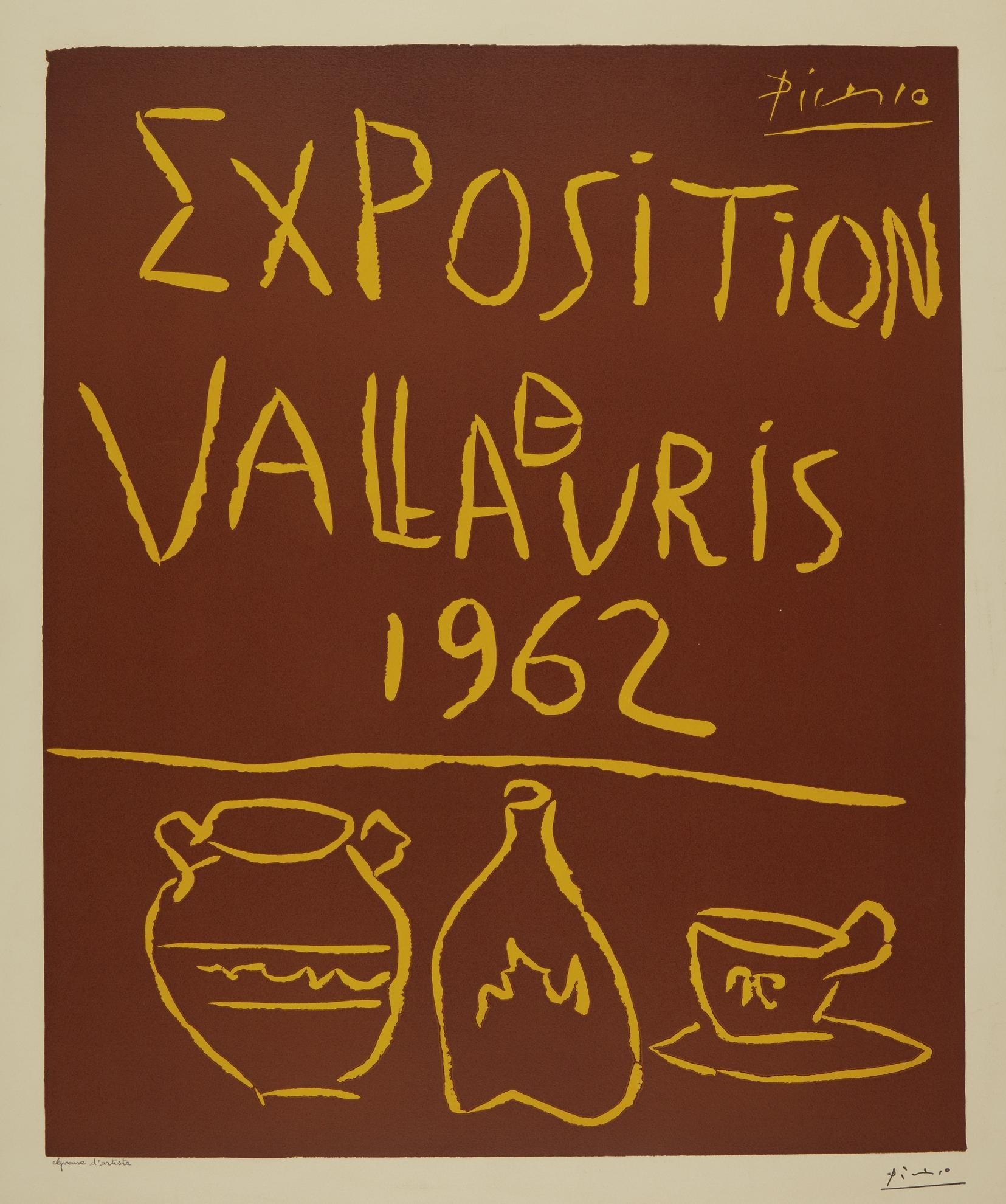 Pablo Picasso-Exposition De Vallauris 1962 (B. 1299; Ba. 1335)-1962