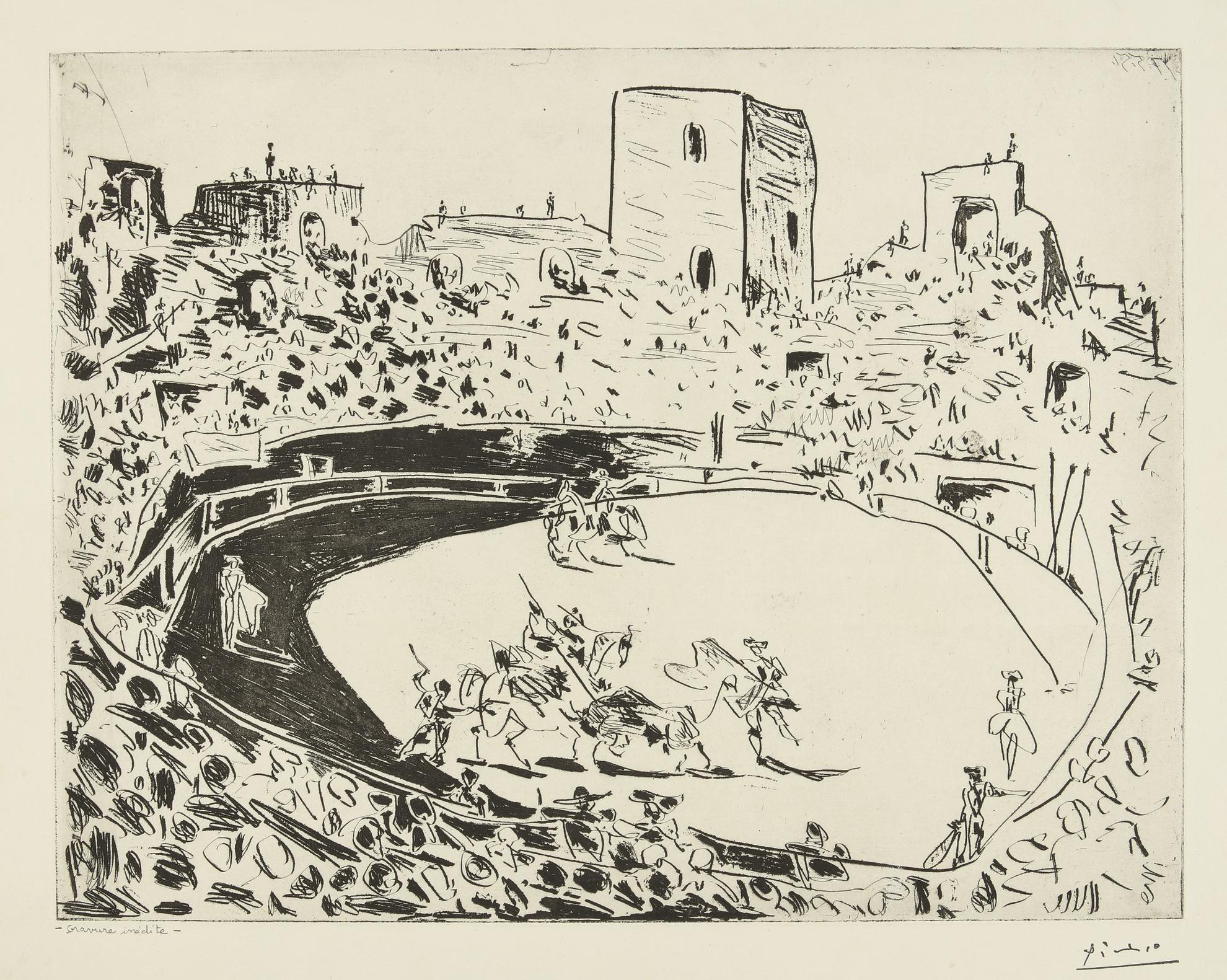 Pablo Picasso-Corrida En Arles (B. 1355; Ba. 887)-1951