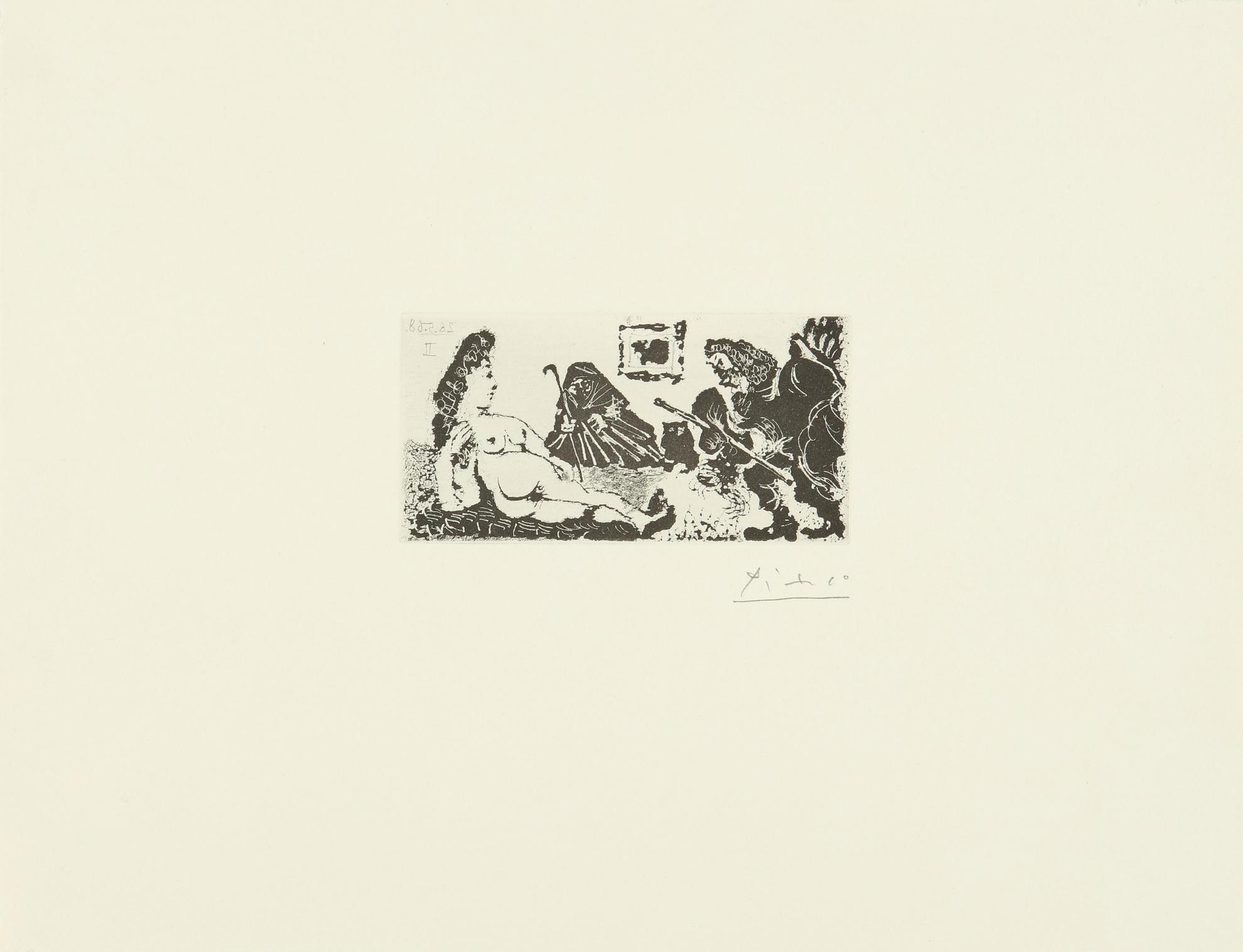 Pablo Picasso-Vieux Beau Saluant Tres Bas Une Pupille De La Celestine (B. 1593; Ba. 1609)-1968