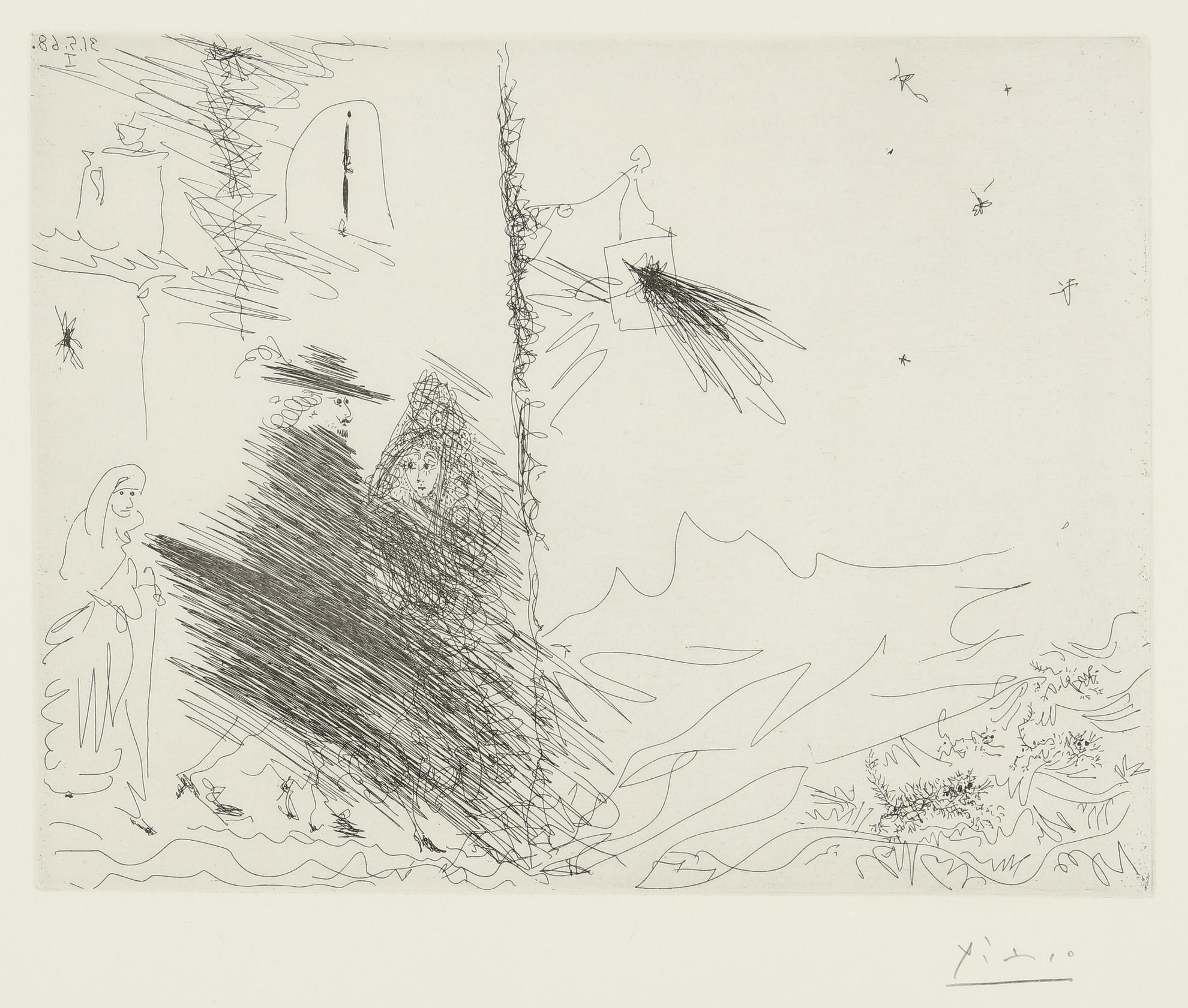 Pablo Picasso-Calixte Et Melibee Au Verger De Plebere (B. 1611; Ba. 1627)-1968
