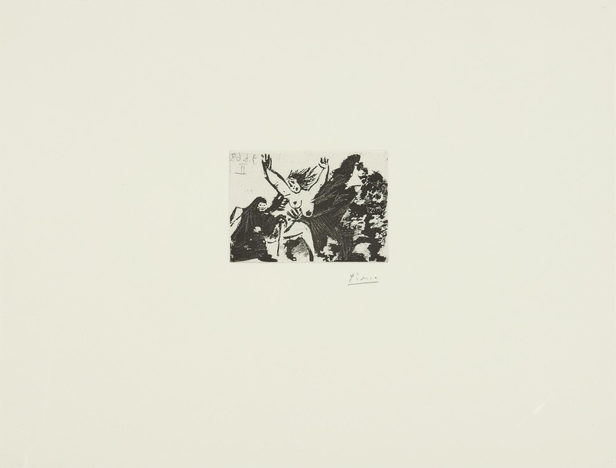 Pablo Picasso-Enlevement, A Pied, Avec La Celestine (B. 1627; Ba. 1643)-1968