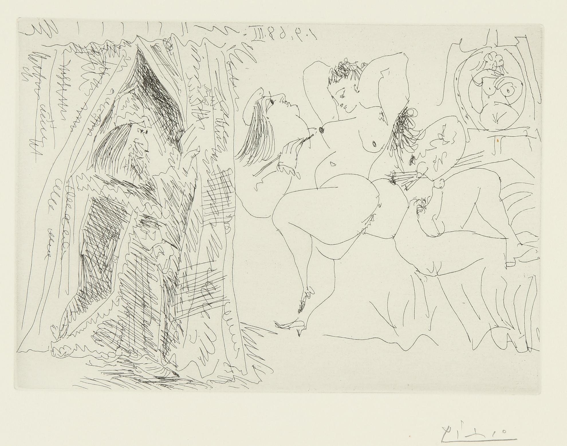 Pablo Picasso-Raphael Et La Fornarina. Viii: Le Pape Entre, Avec Un Sourire Patelin (B. 1783; Ba. 1800)-1968