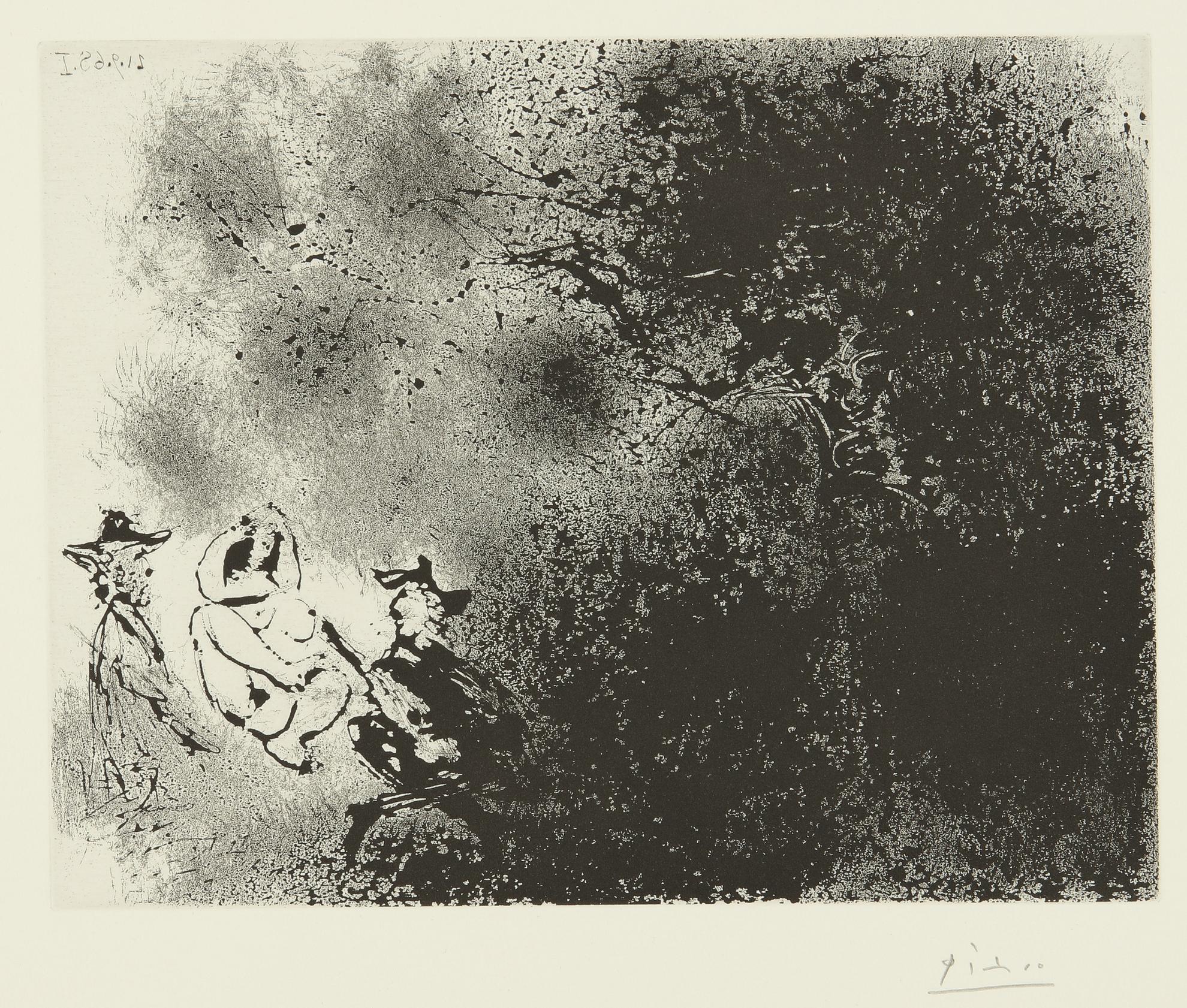 Pablo Picasso-Peintures Aux Champs: Un Dejeuner Sur Lherbe Impressionniste (B. 1808; Ba. 1825)-1968