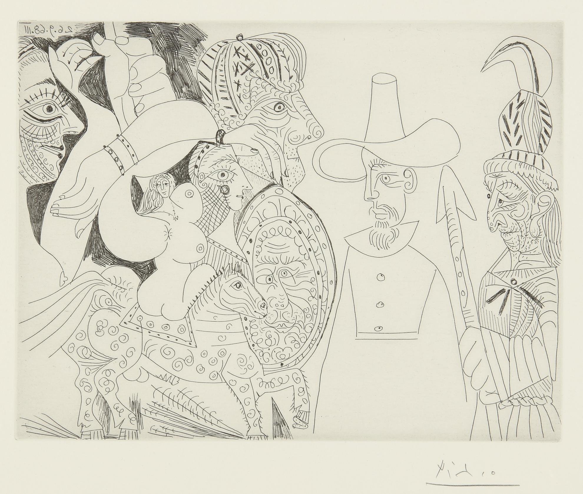 Pablo Picasso-Television: Quaker, Peau-Rouge, Ecuyere... (B. 1818; Ba. 1835)-1968