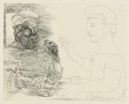 Pablo Picasso-La Taberna. Jeune Pecheur Catalan Racontant Sa Vie A Un Vieux Pecheur Barbu (B. 228; Ba. 442)-1934
