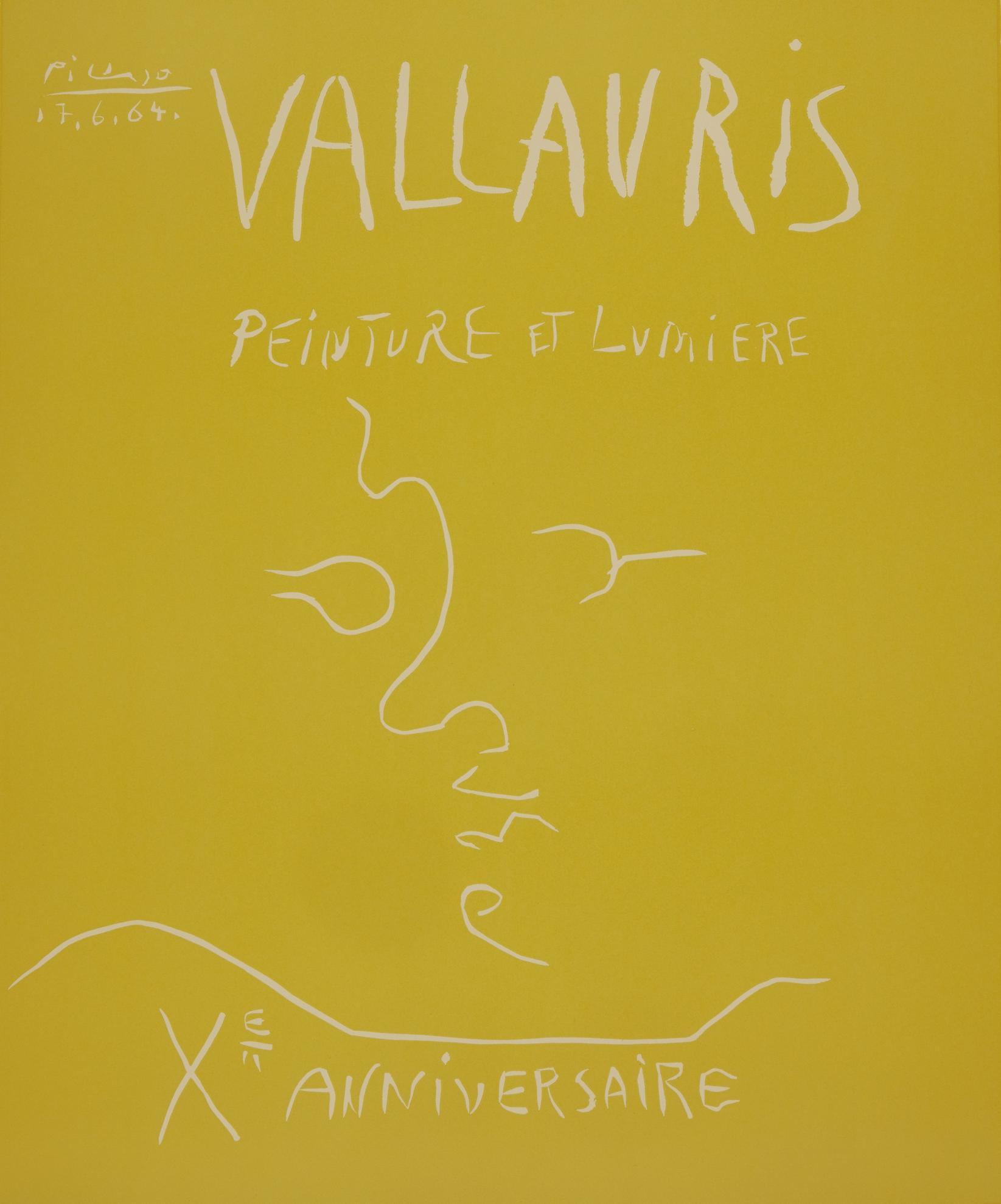 Pablo Picasso-Vallauris. Peinture Et Lumiere. Xe Anniversaire (B. 1850; Ba. 1353)-1964