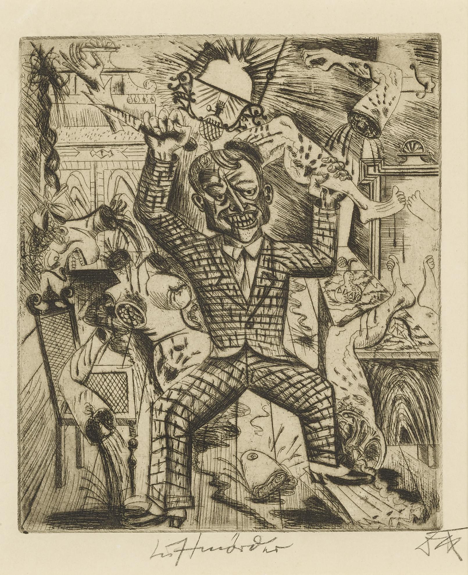 Otto Dix-Lustmorder (Karsch 14)-1920