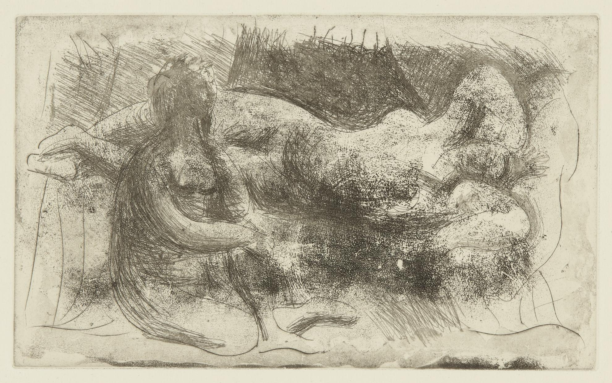 Pablo Picasso-Femme Veillant Une Dormeuse (B. 238; Ba. 261)-1932