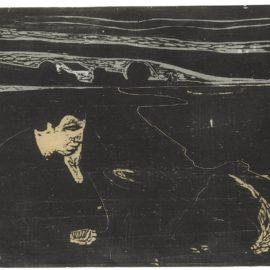 Edvard Munch-Evening. Melancholy I (Sch. 82; W. 91)-1896