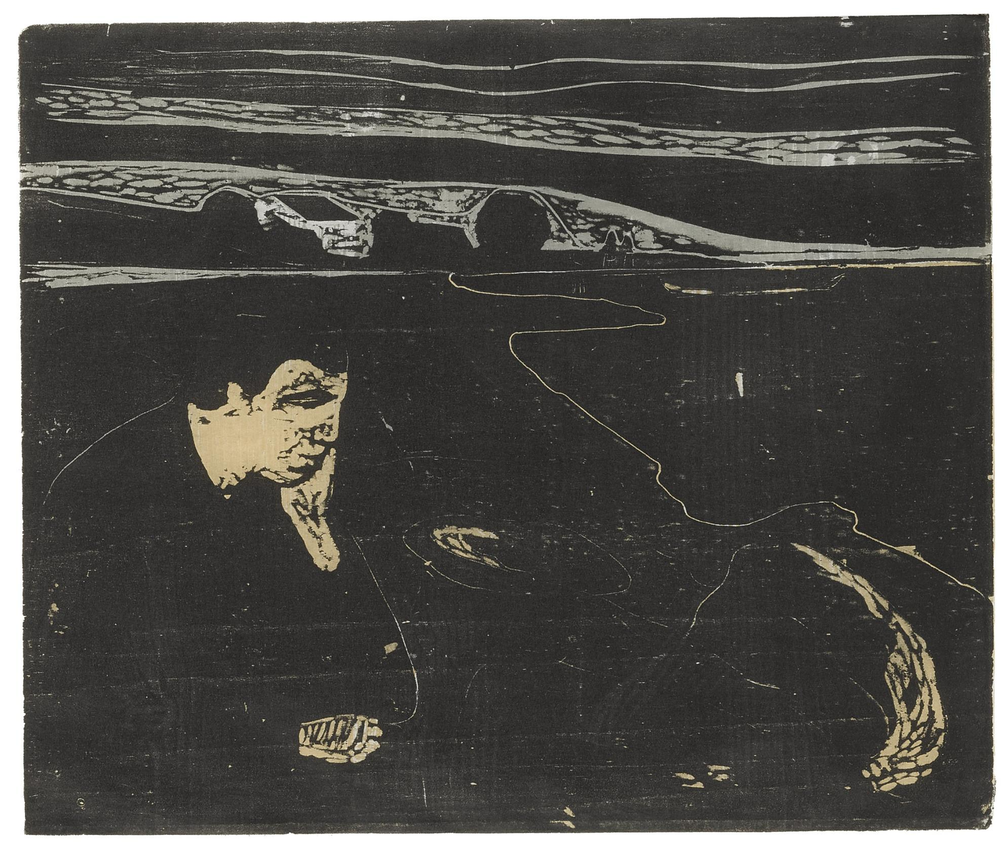 Edvard Munch-Evening. Melancholy I (Sch. 82; W. 91)-1896