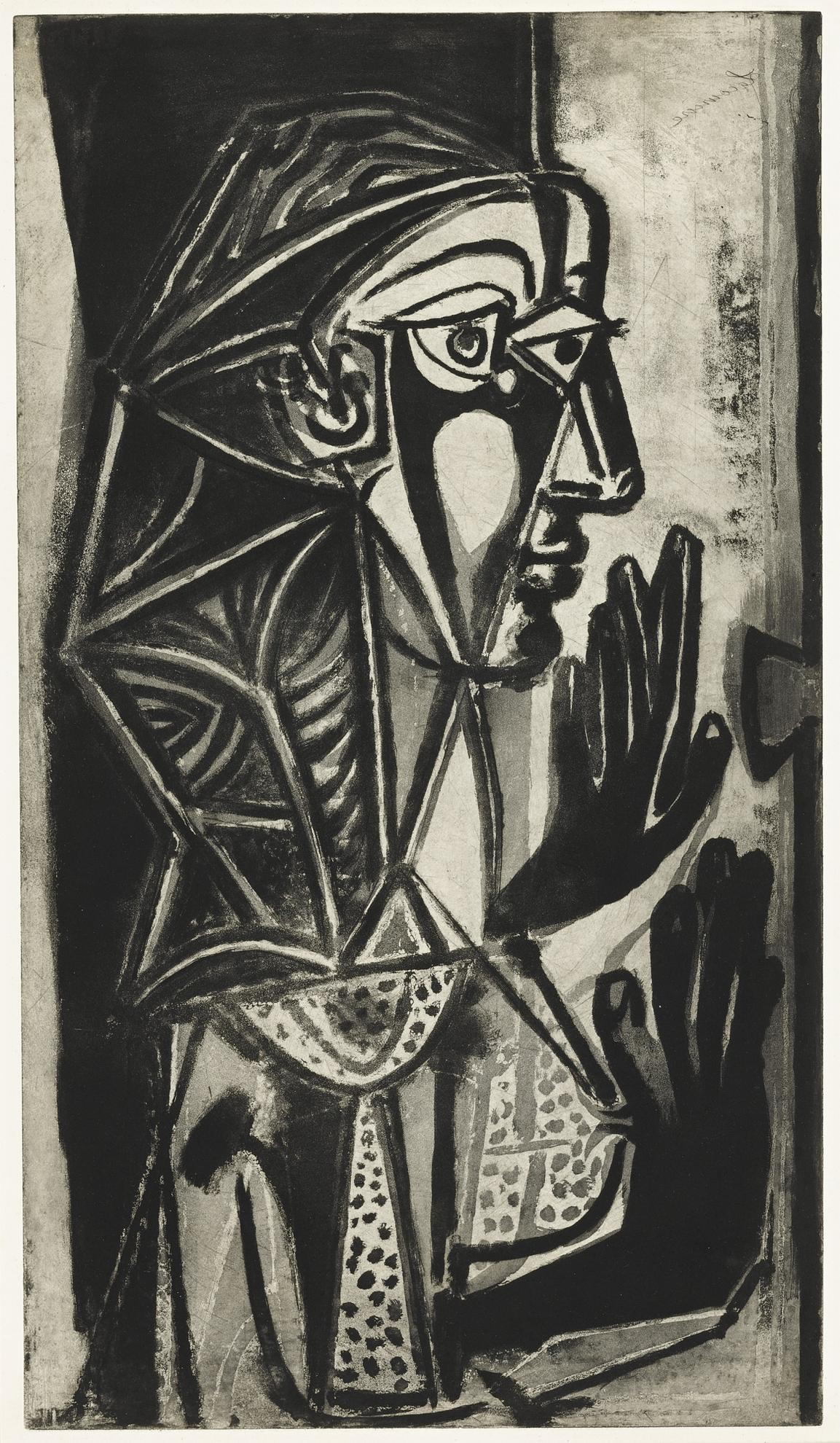 Pablo Picasso-La Femme A La Fenetre (B. 695; Ba. 891/II/A)-1952