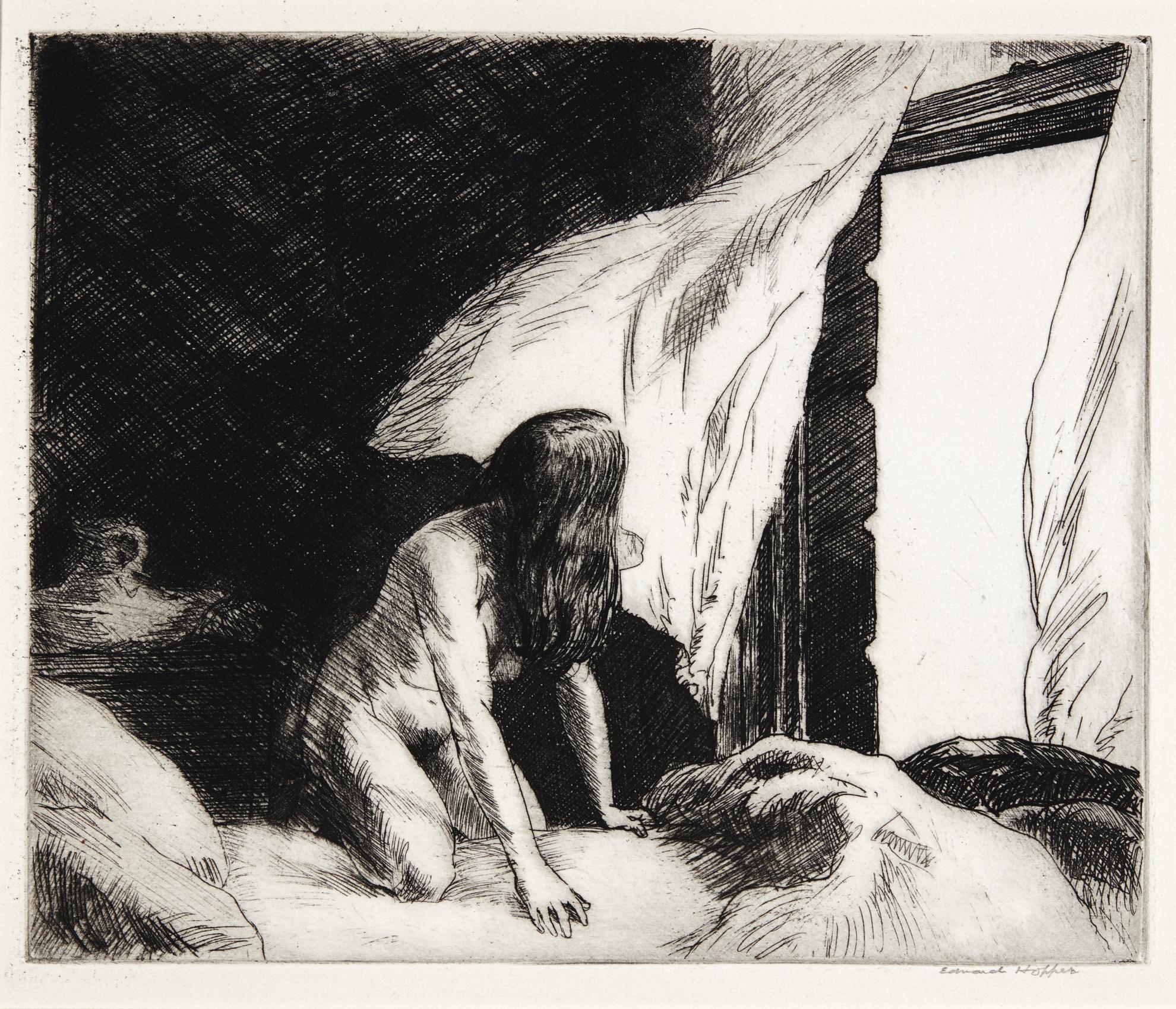Edward Hopper-Evening Wind (Levin 77)-1921