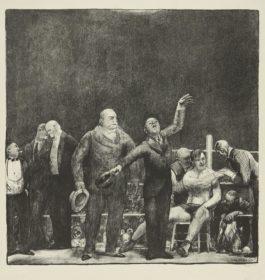 George Bellows-Introducing John L. Sullivan (Mason 27)-1916