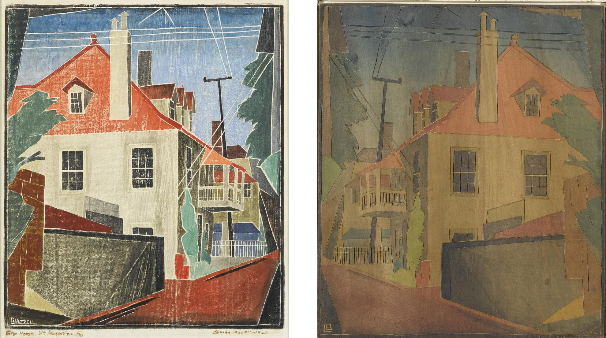 Blanche Lazzell - The Fatio House And Block 119-1939