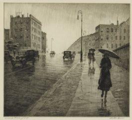 Martin Lewis-Rainy Day, Queens (Mccarron 94)-1931